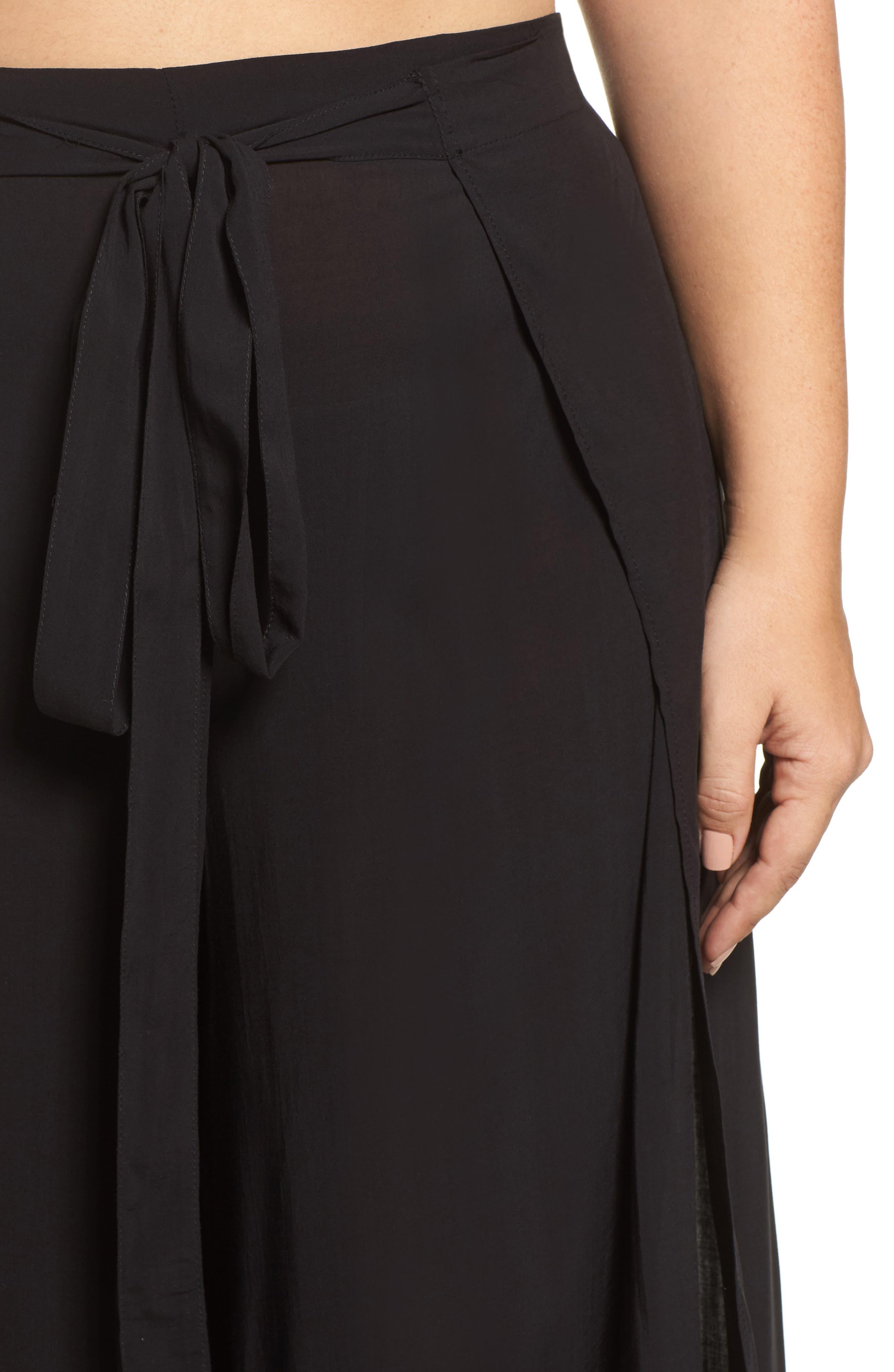 Alternate Image 4  - Elan Cover-Up Flyaway Pants (Plus Size)
