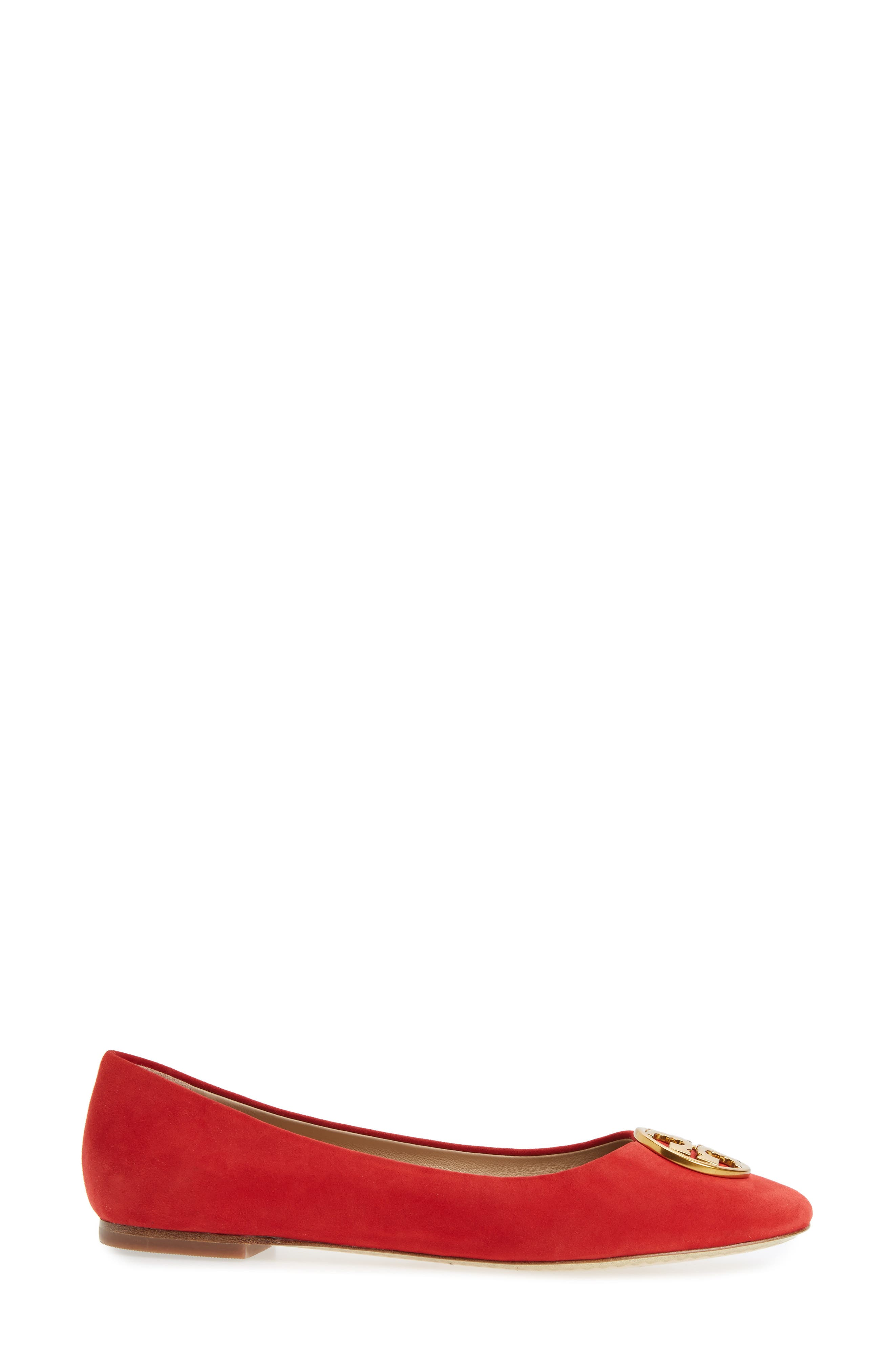 Chelsea Ballet Flat,                             Alternate thumbnail 3, color,                             Liberty Red