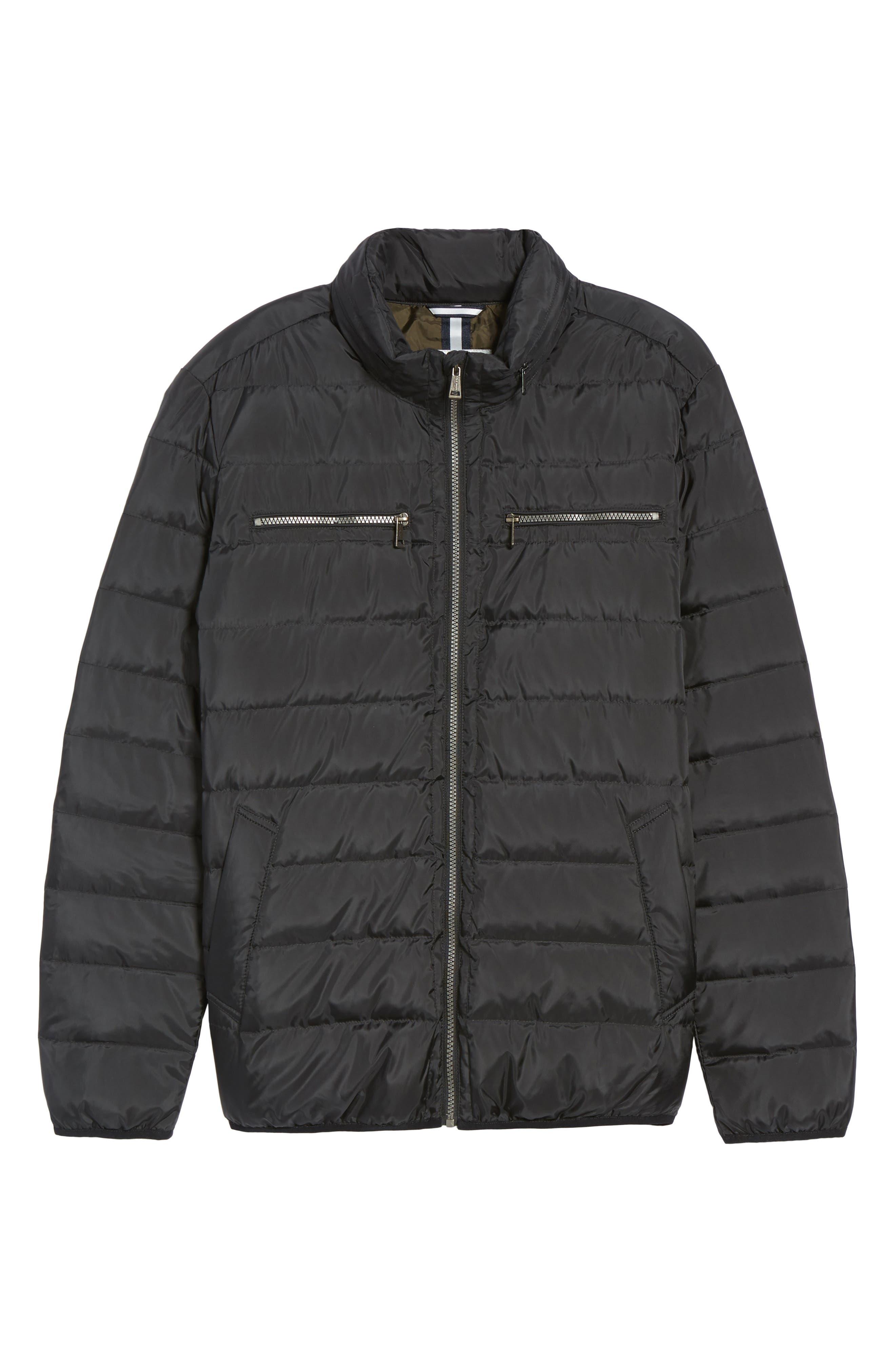 Packable Down Jacket,                             Alternate thumbnail 6, color,                             Black