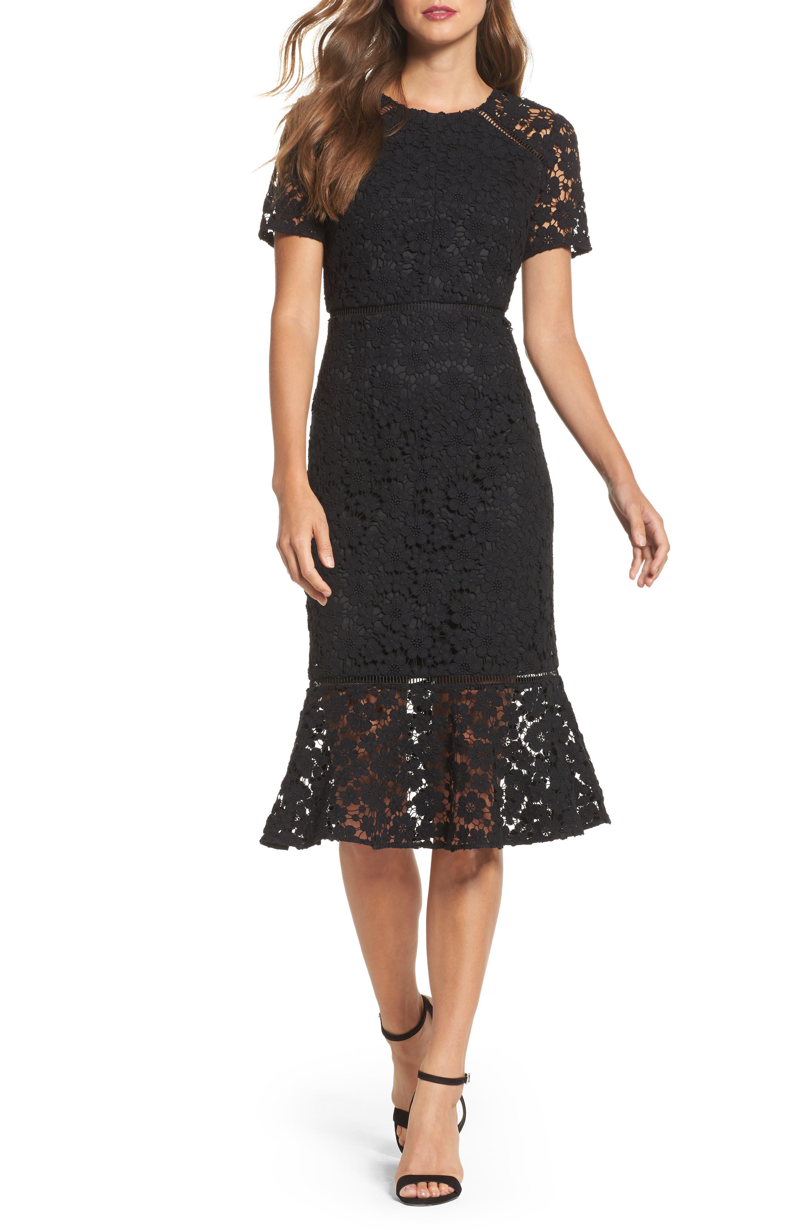 Shoshanna Octavia Lace Sheath Dress