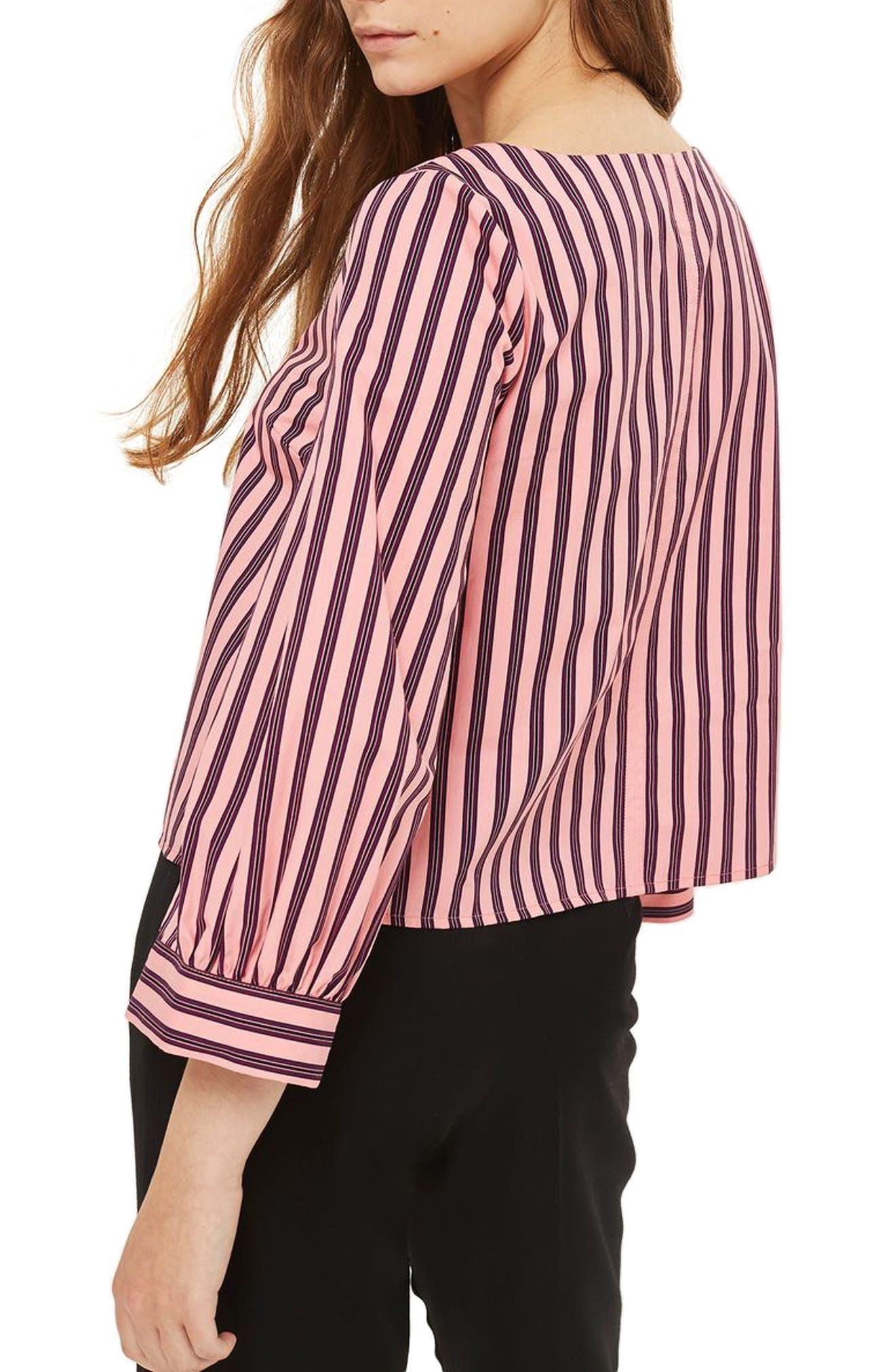 Alternate Image 2  - Topshop Stripe Wide Sleeve Top