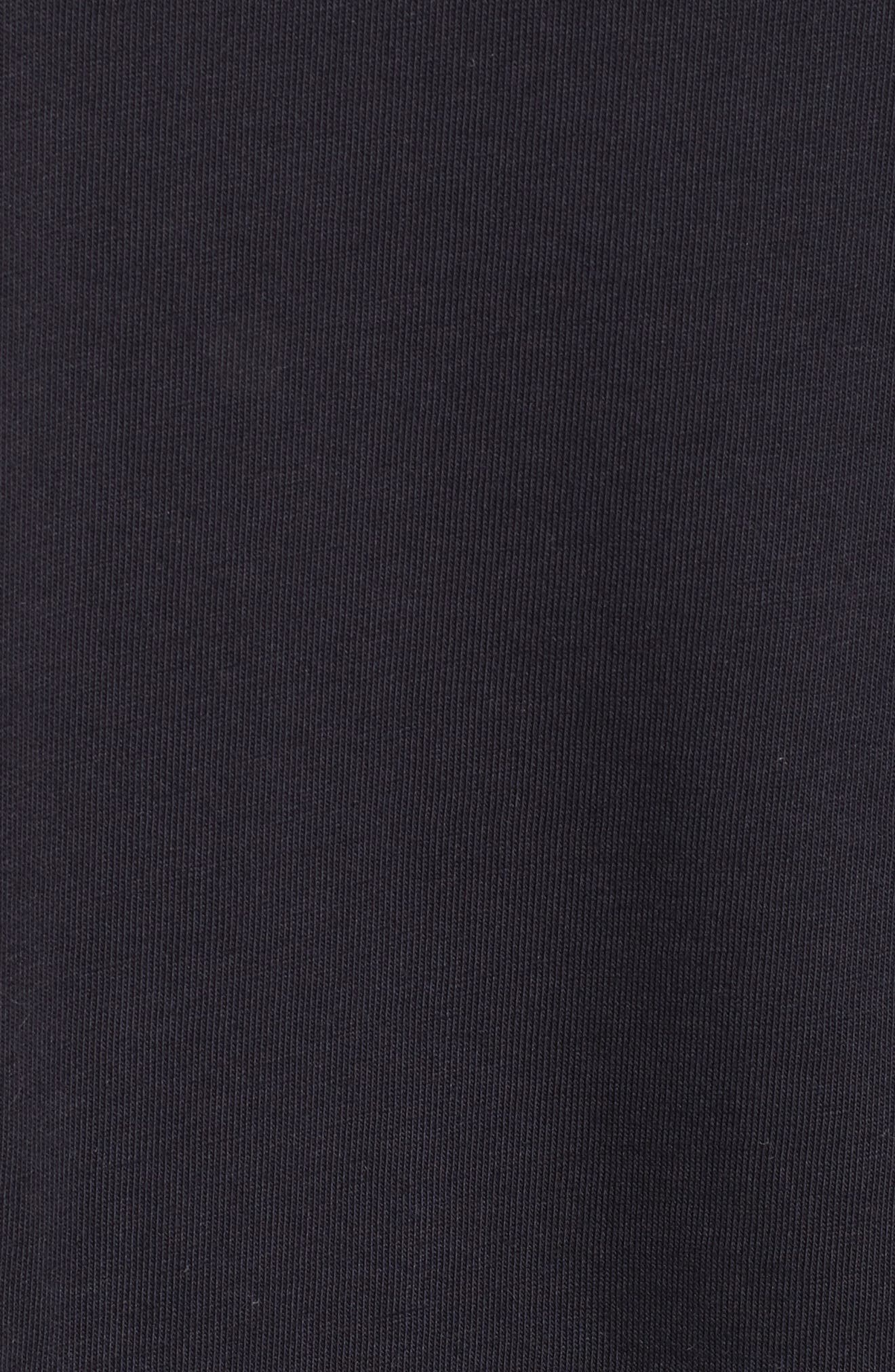 Lace Trim Bell Sleeve Top,                             Alternate thumbnail 5, color,                             Black