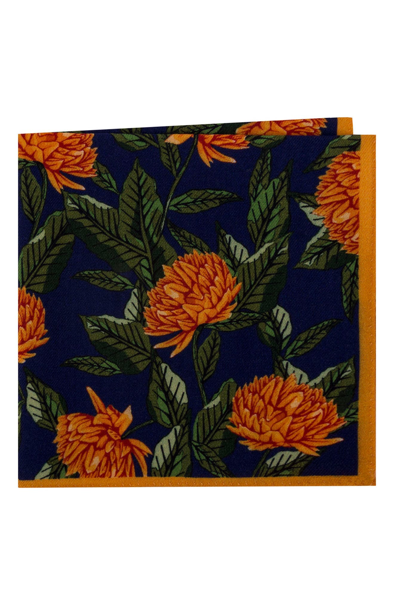 Ted Baker London Floral Wool Pocket Square