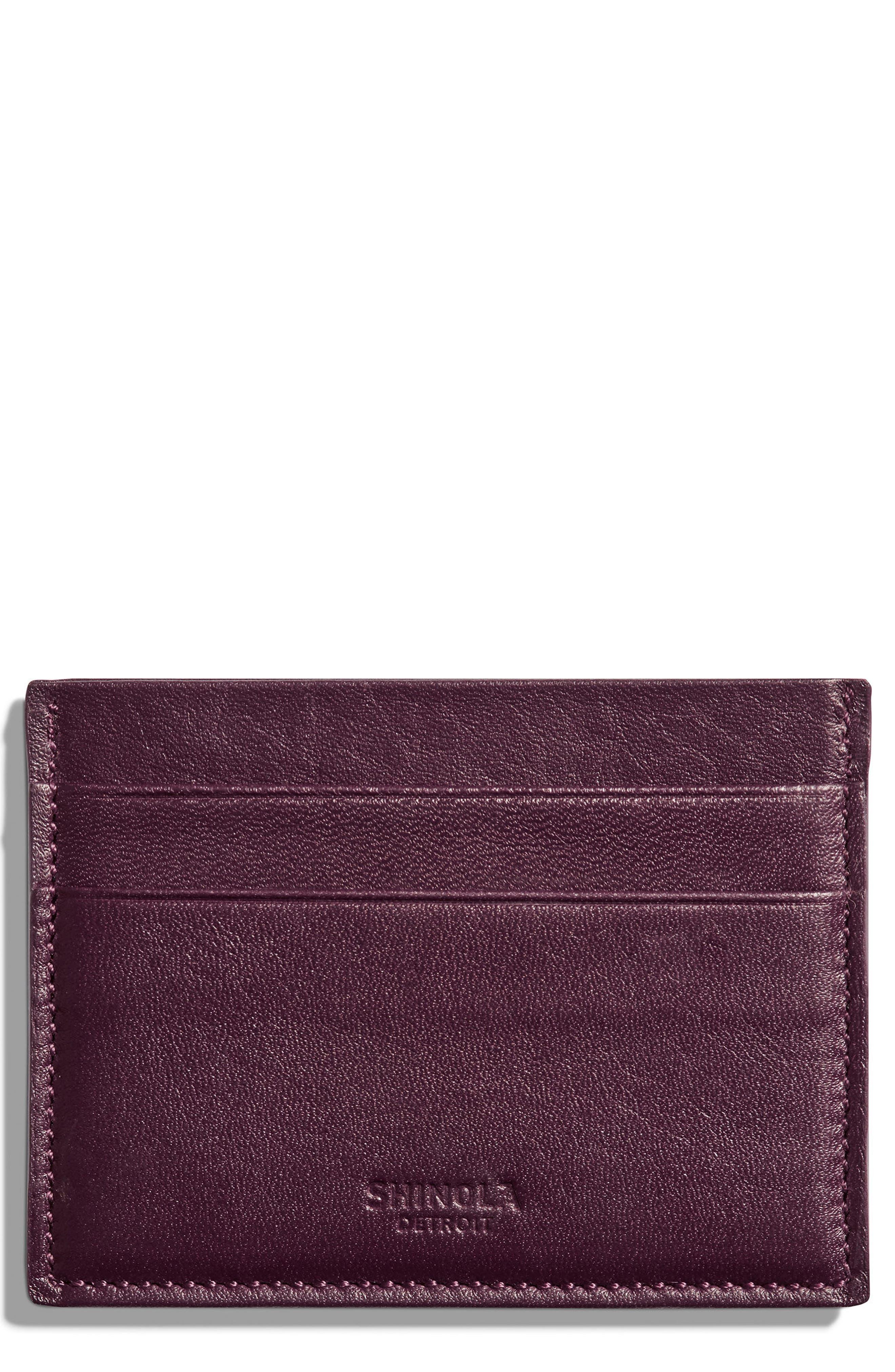 Alternate Image 1 Selected - Shinola Leather Card Case