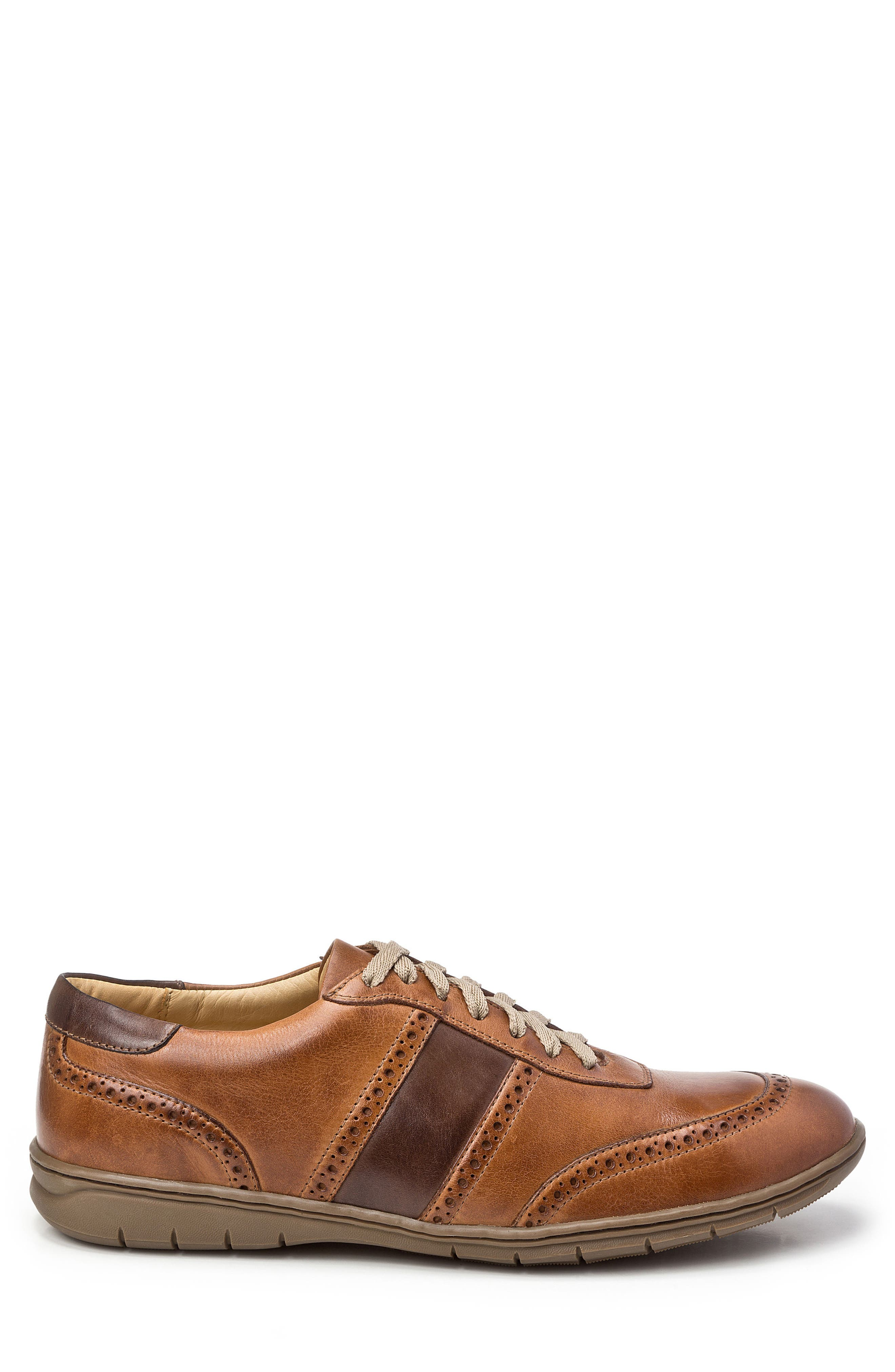 Norris Sneaker,                             Alternate thumbnail 3, color,                             Tan Leather