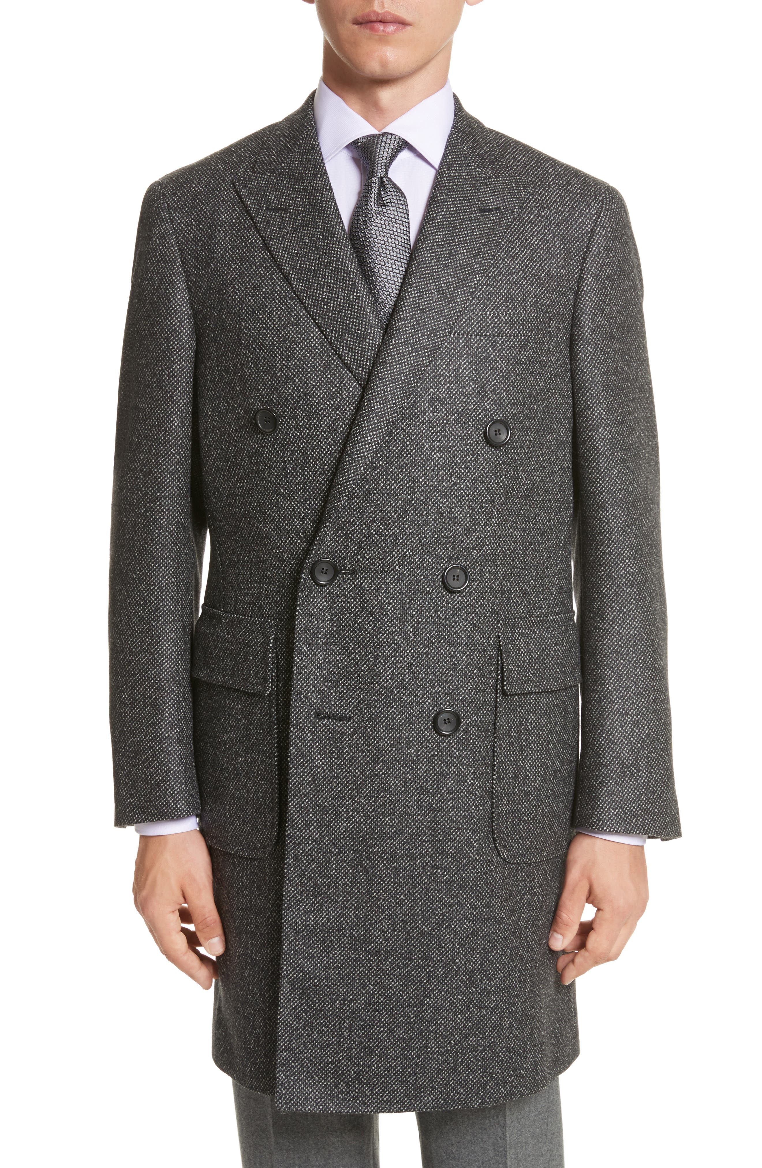 Main Image - Canali Classic Fit Wool Topcoat