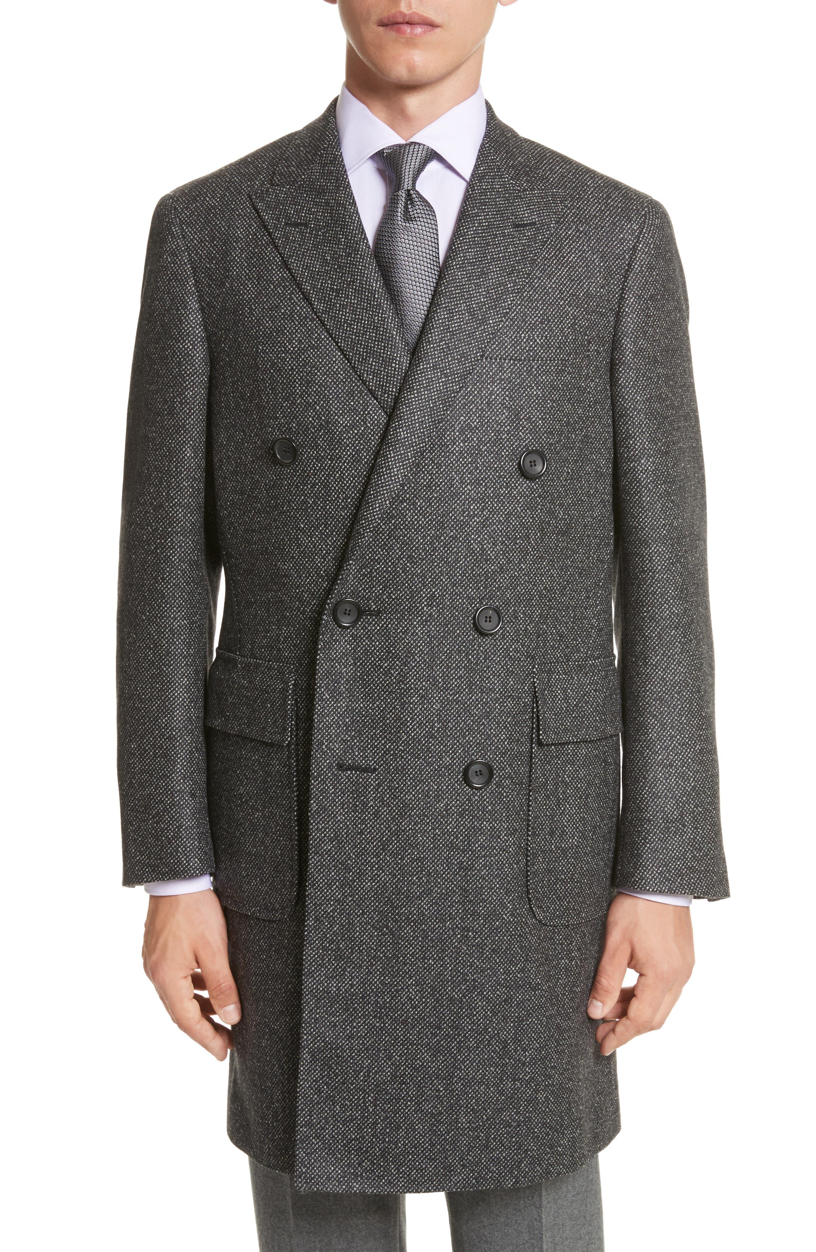 Classic Fit Wool Topcoat,                         Main,                         color, Grey