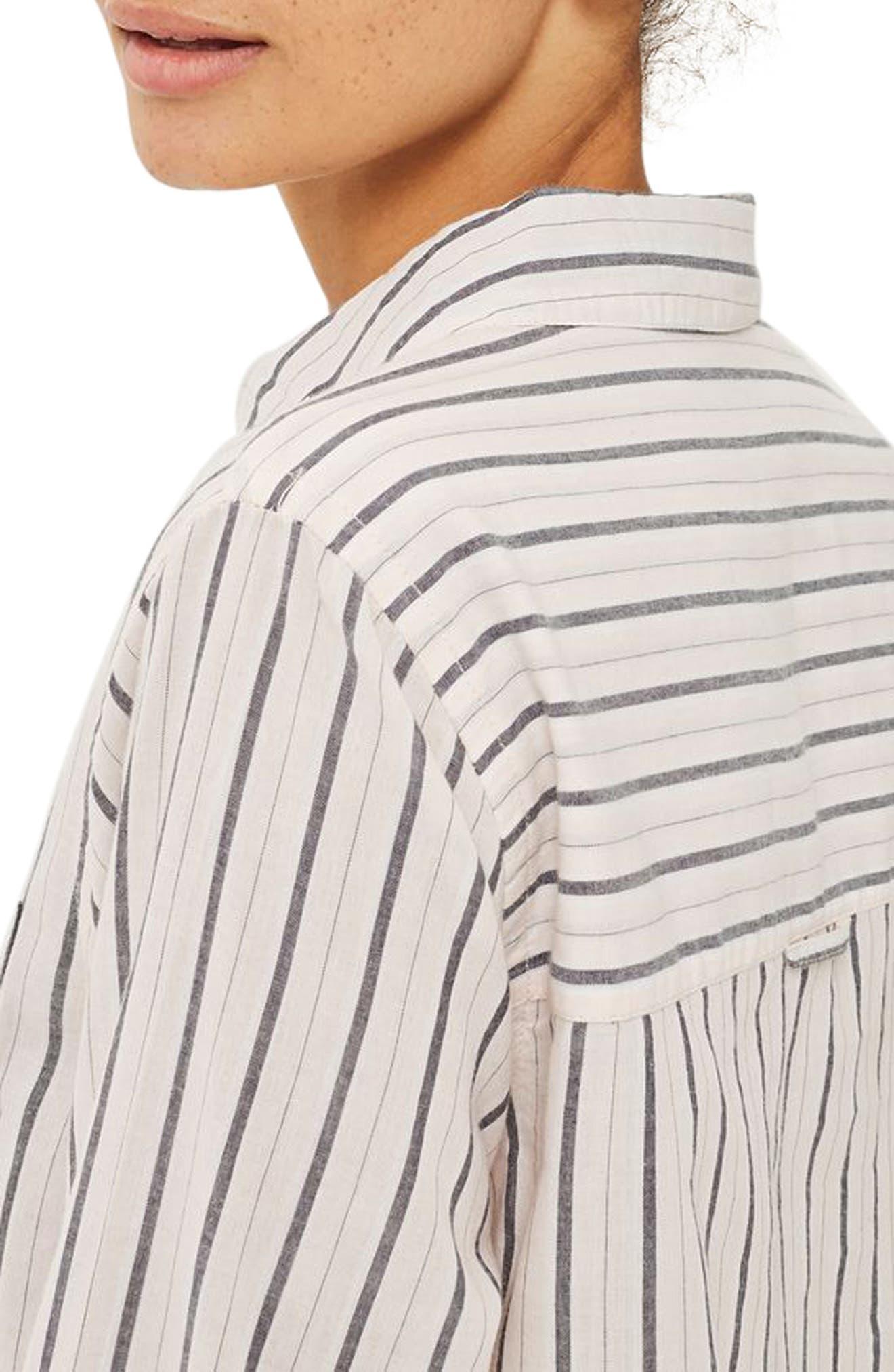 Stripe Shirt,                             Alternate thumbnail 2, color,                             Pink Multi