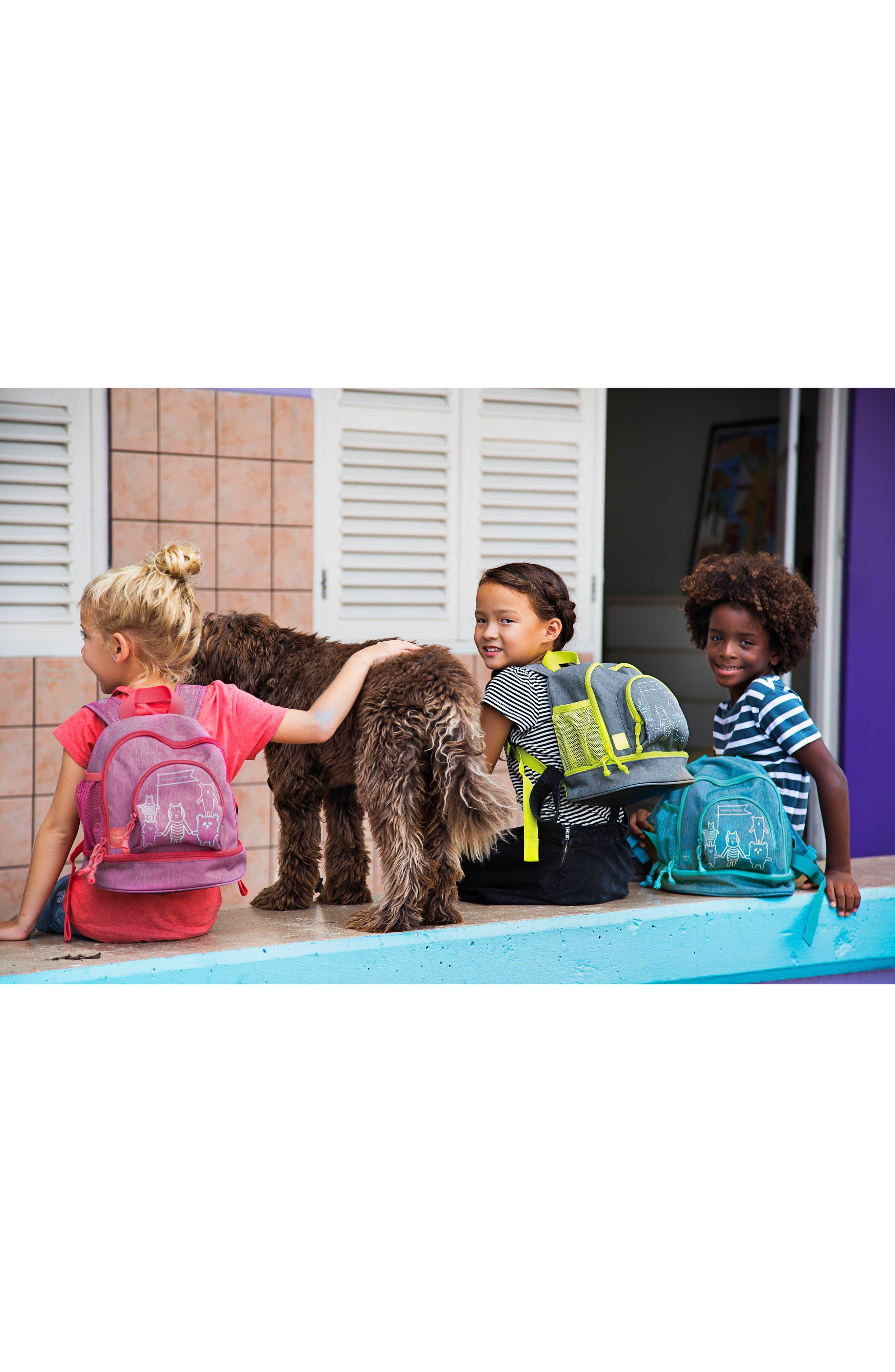 Mini About Friends Duffel Bag,                             Alternate thumbnail 6, color,                             Melange Grey