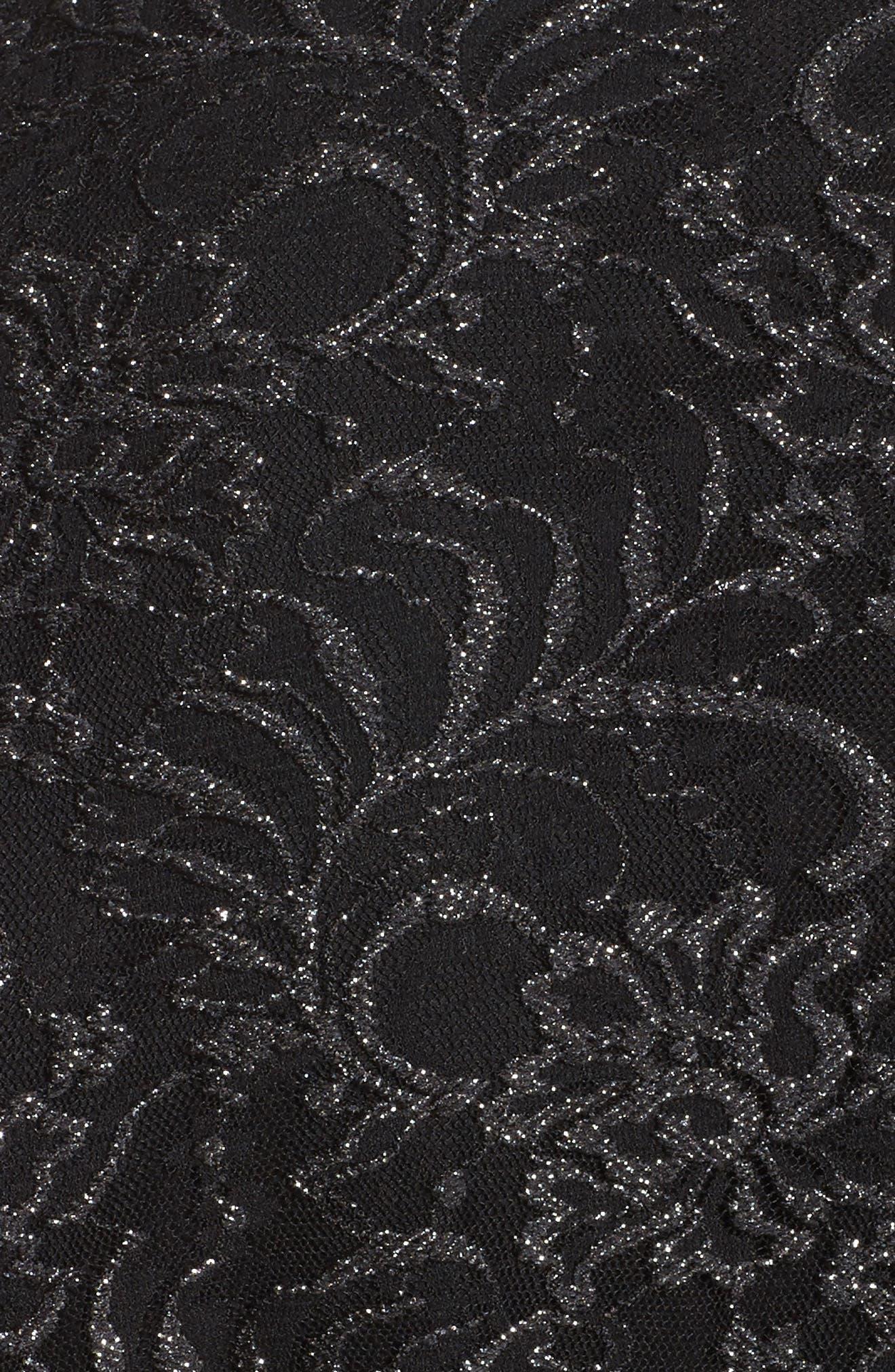 Alternate Image 5  - Alex Evenings Sequin Lace Blouse with Tie Waist (Plus Size)