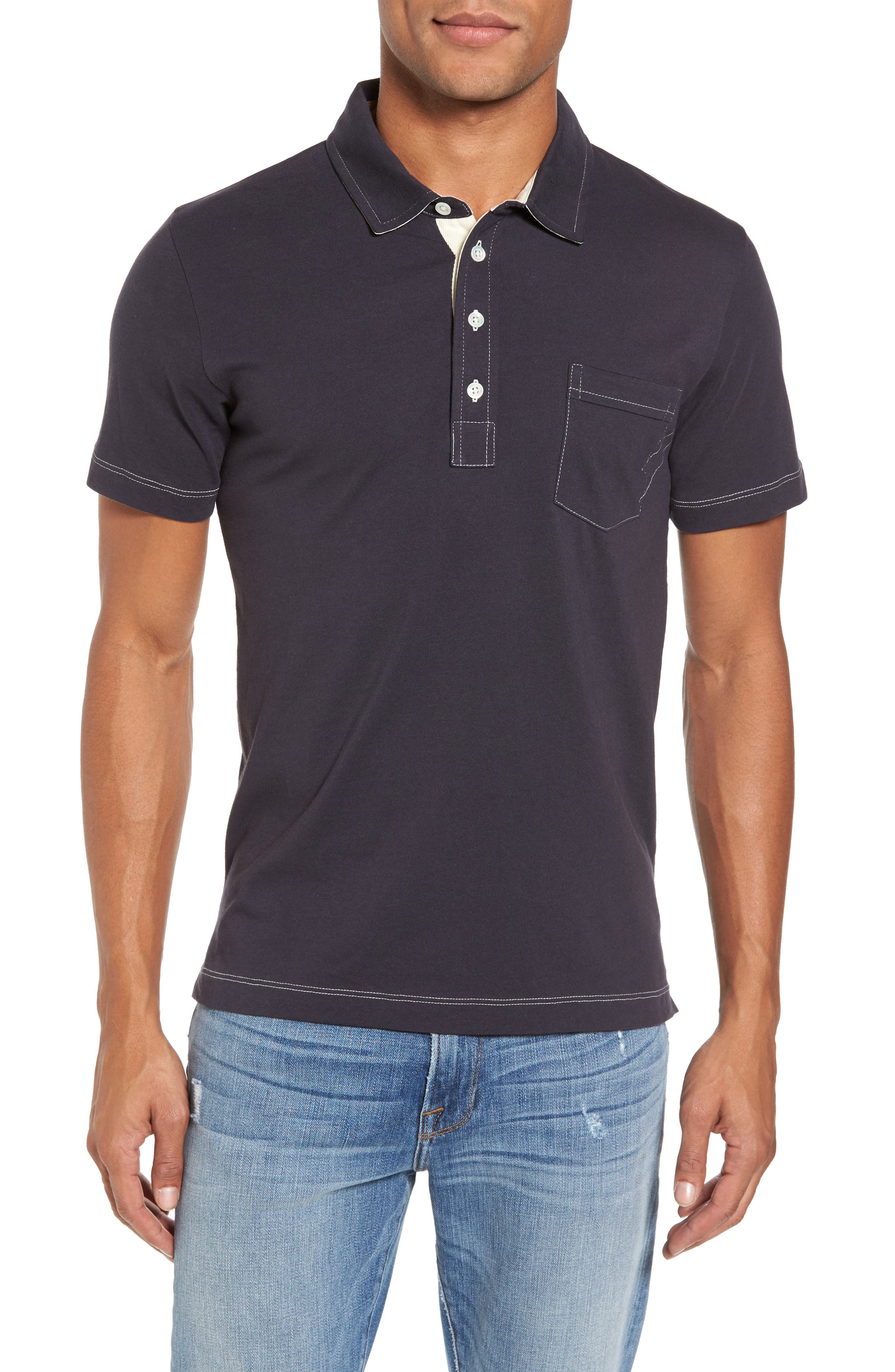 Pensacola Slim Fit Polo,                         Main,                         color, Navy