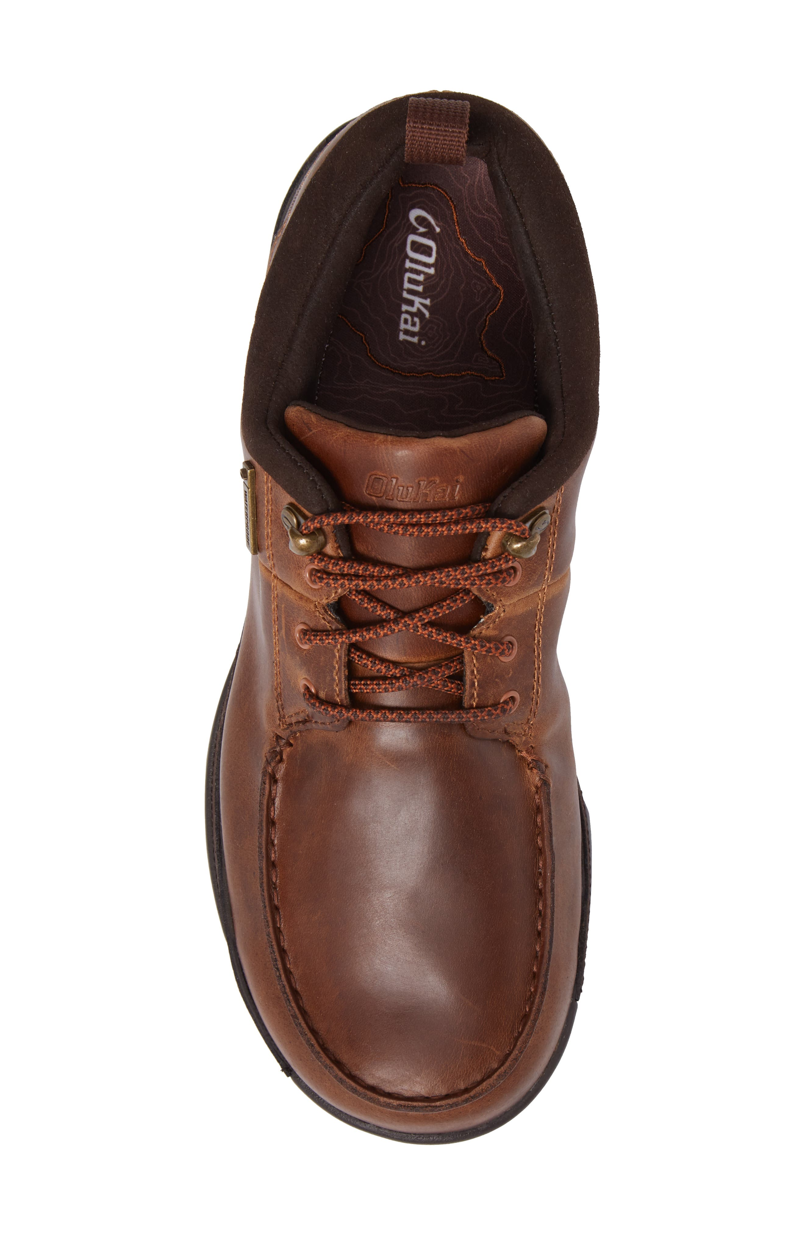 Makoa Waterproof Shoe,                             Alternate thumbnail 5, color,                             Fox/ Dark Wood Leather