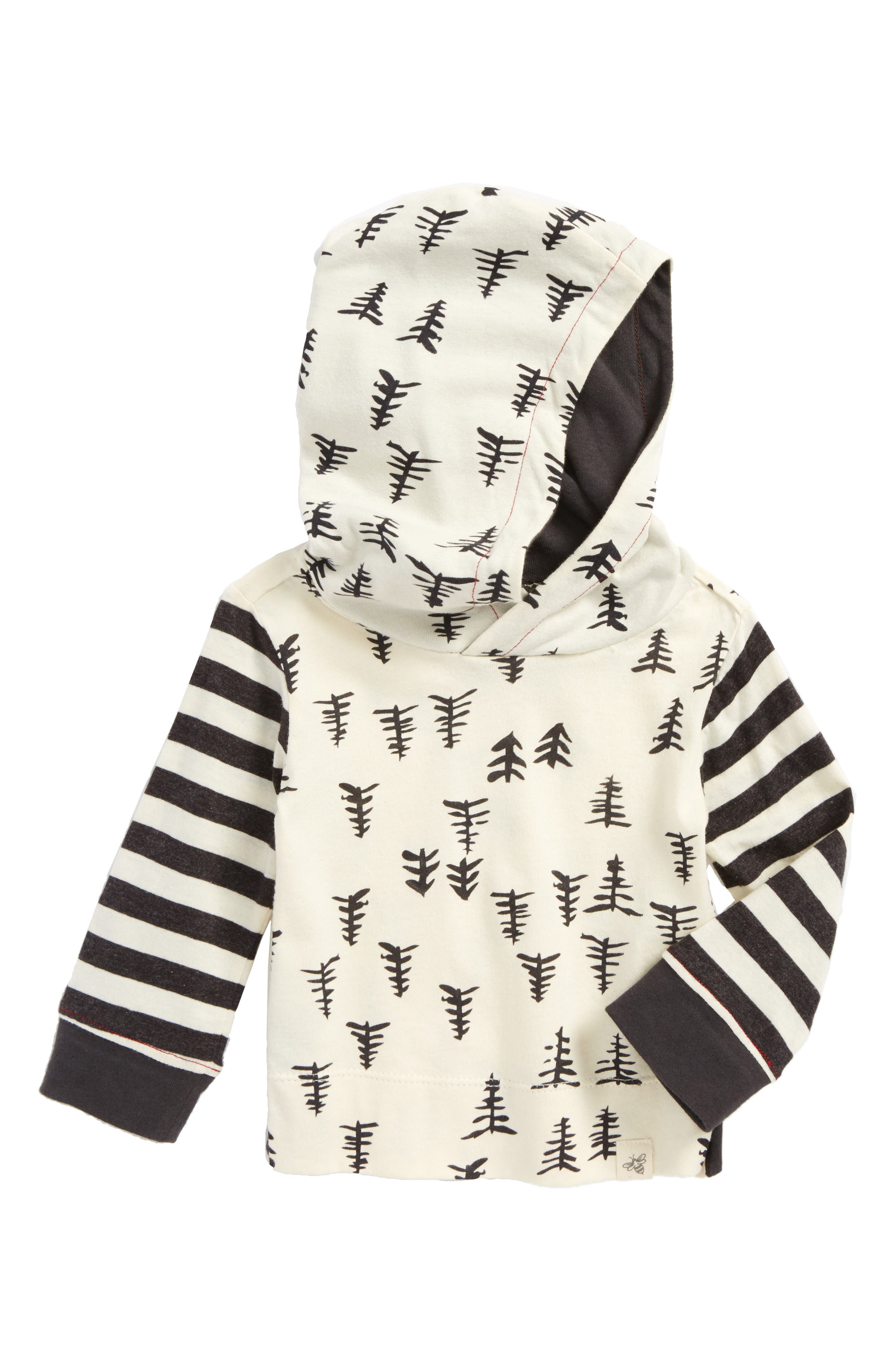 Burt's Bees Baby Trees & Stripes Organic Cotton Hooded T-Shirt (Baby Boys)