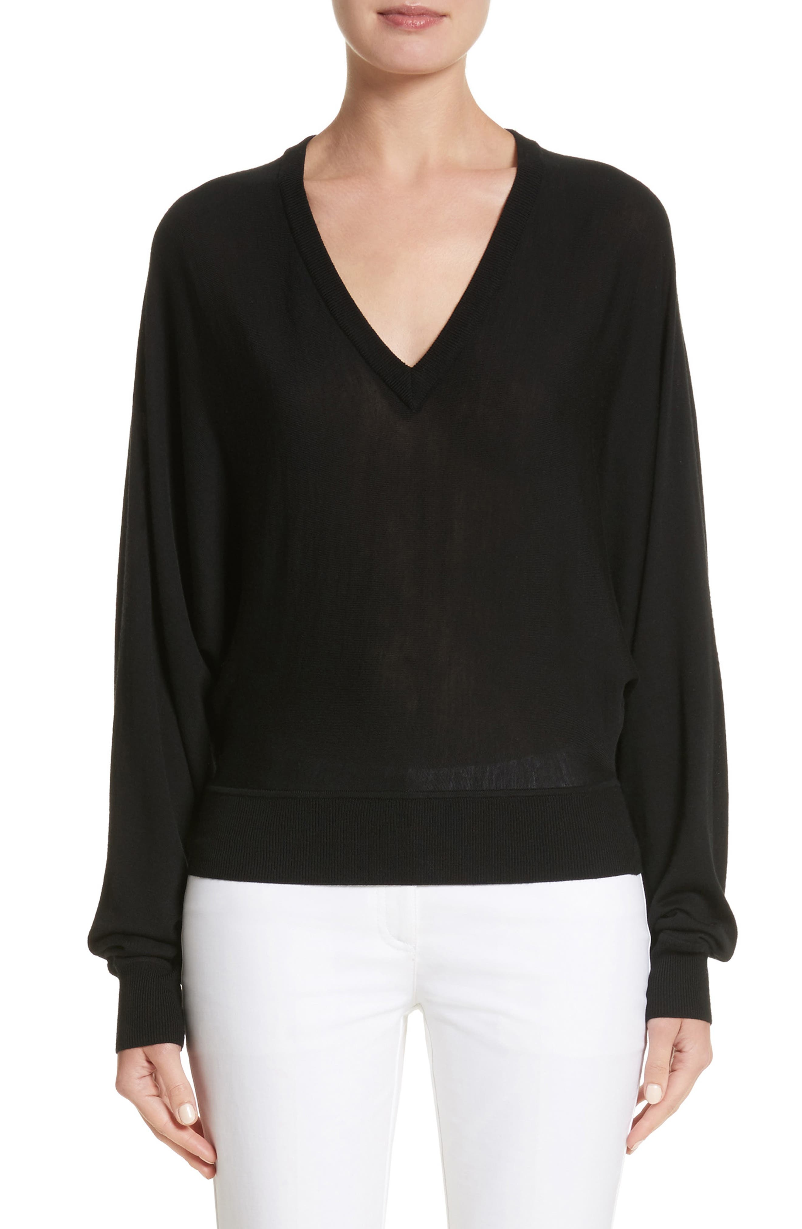 Michael Kors Merino Wool Blend Dolman Sweater