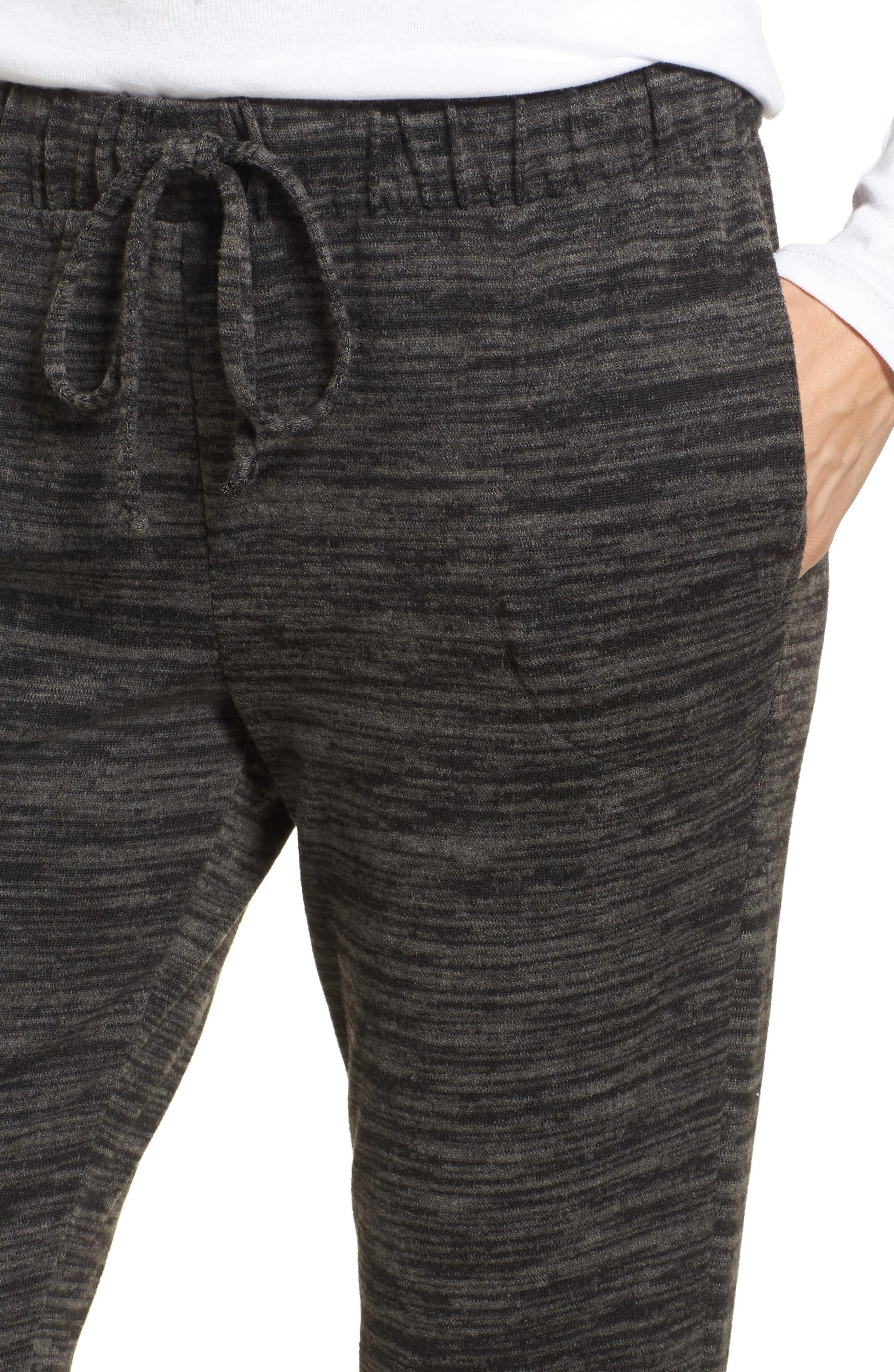 Cozy Jogger Pants,                             Alternate thumbnail 4, color,                             Black