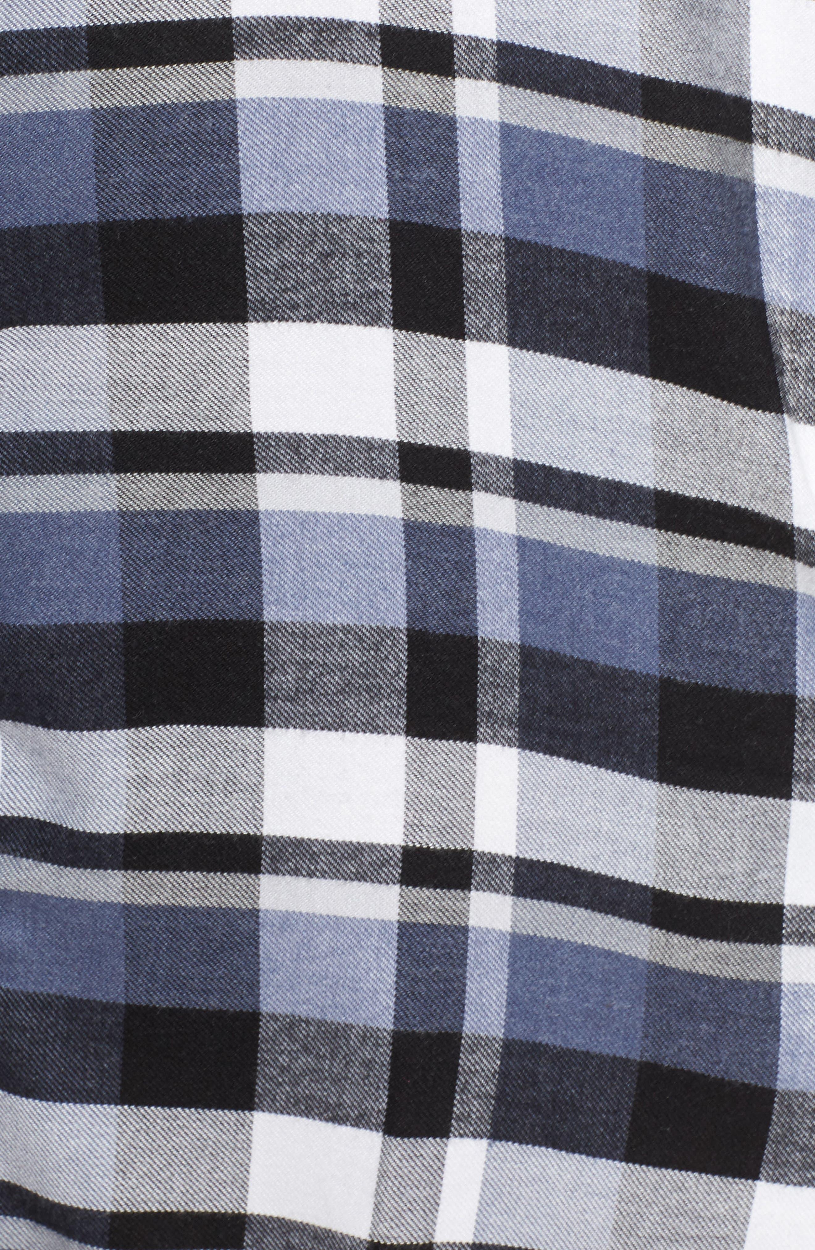 Alternate Image 6  - DKNY Plaid Sleep Shirt (Plus Size)