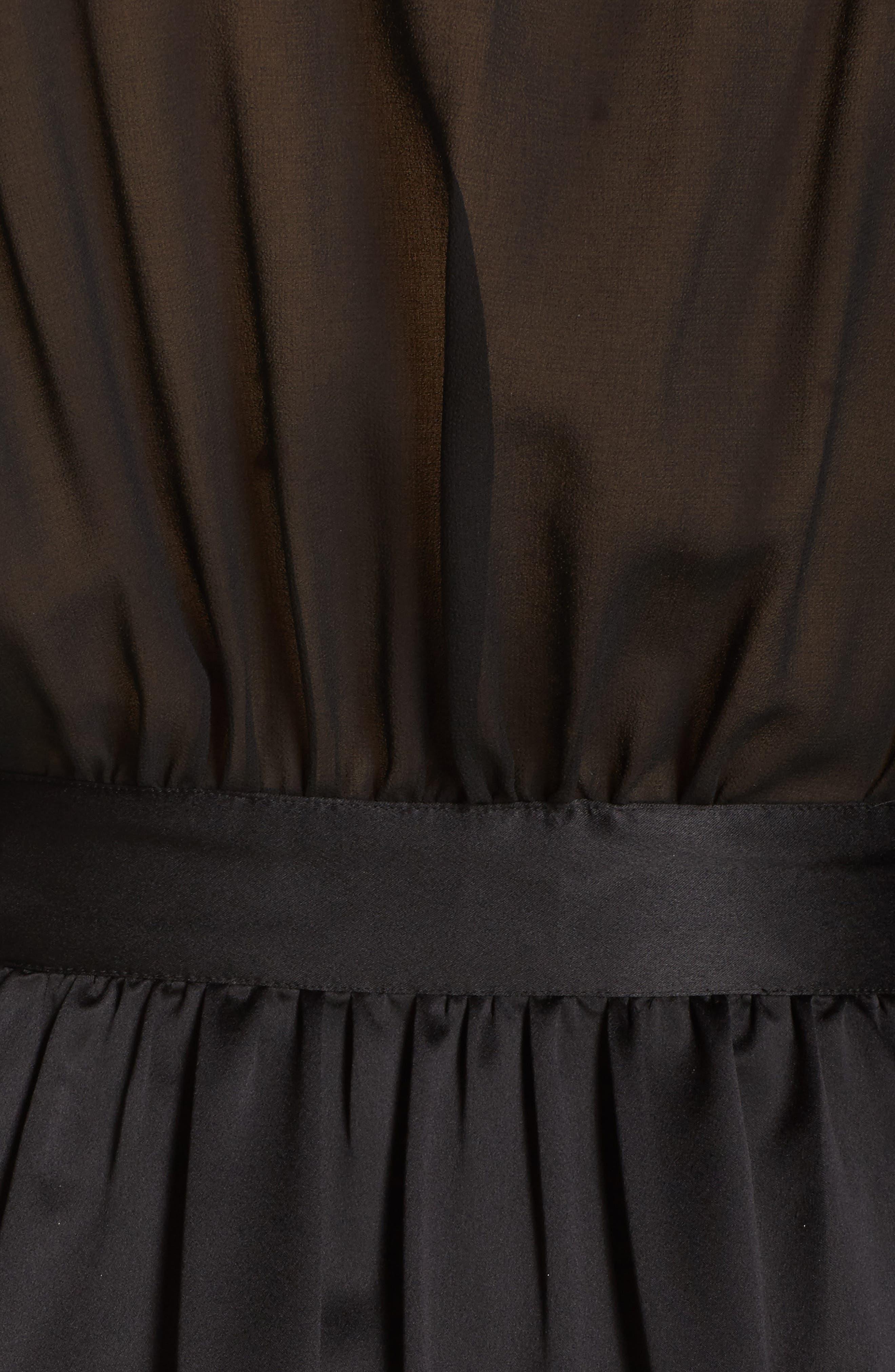 Margot Kimono Robe,                             Alternate thumbnail 6, color,                             Black