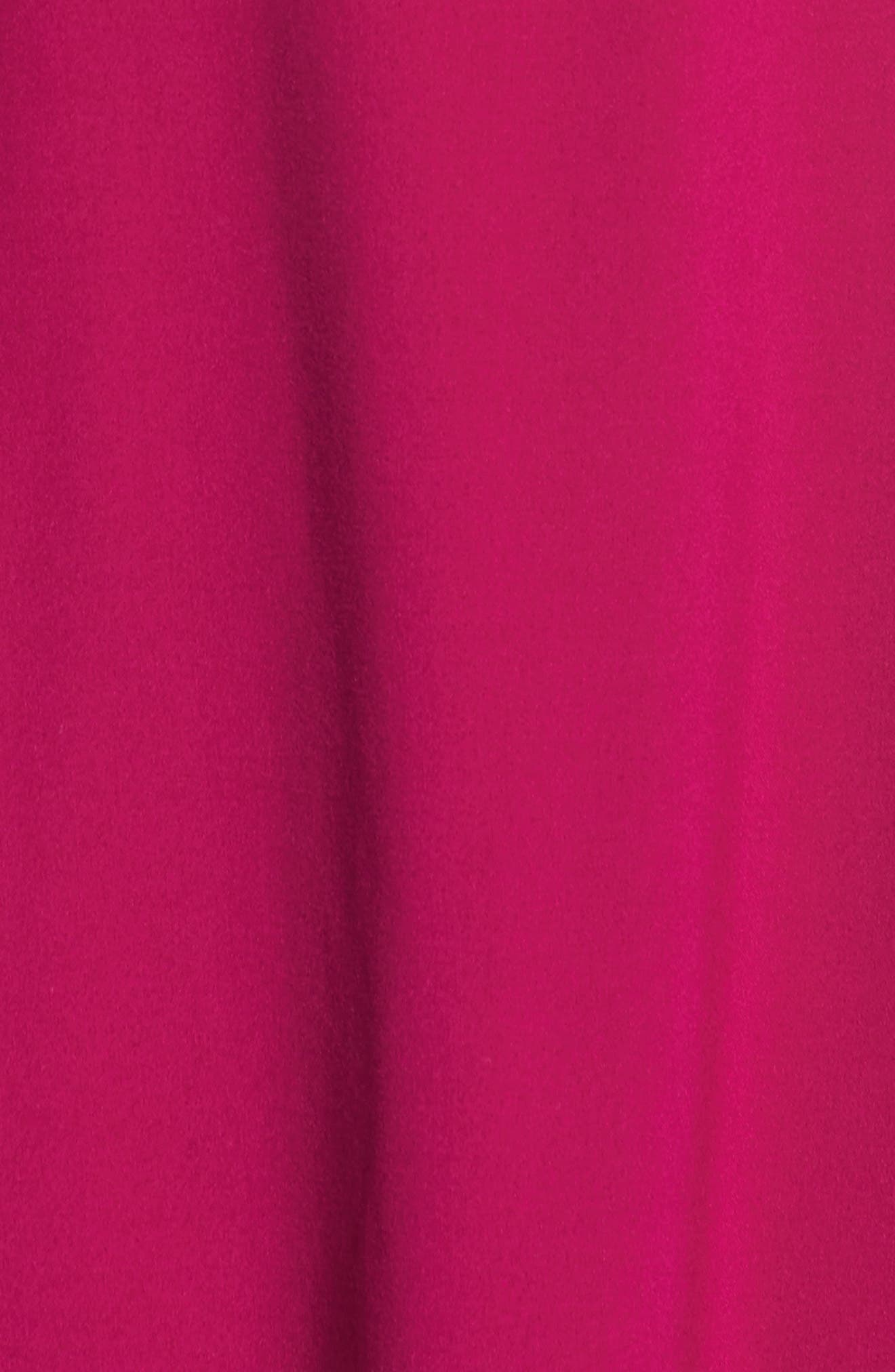 Mock Choker Neck A-Line Dress,                             Alternate thumbnail 5, color,                             Magenta