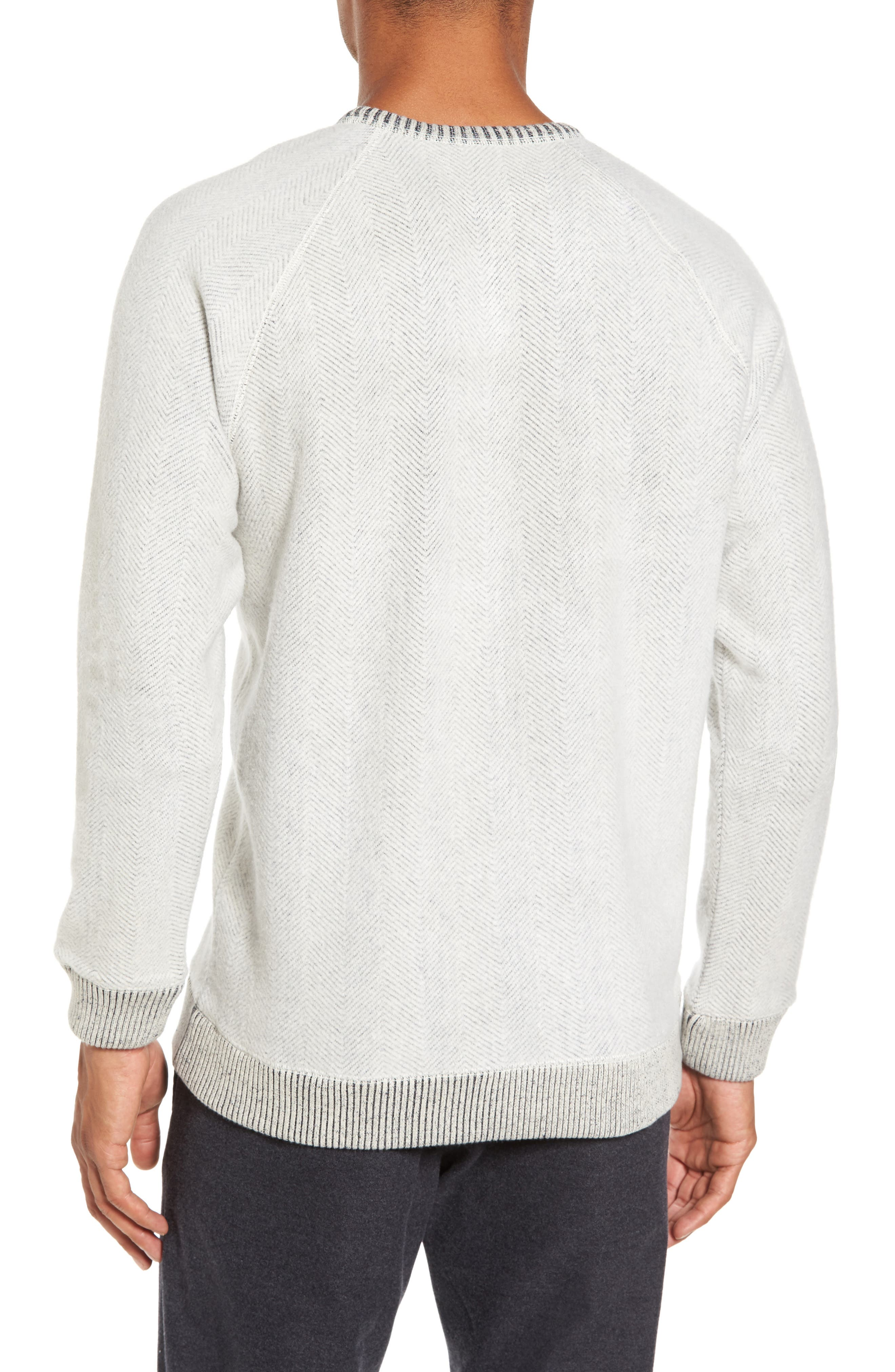 Alternate Image 2  - Nordstrom Men's Shop Brushed Fleece Sweatshirt