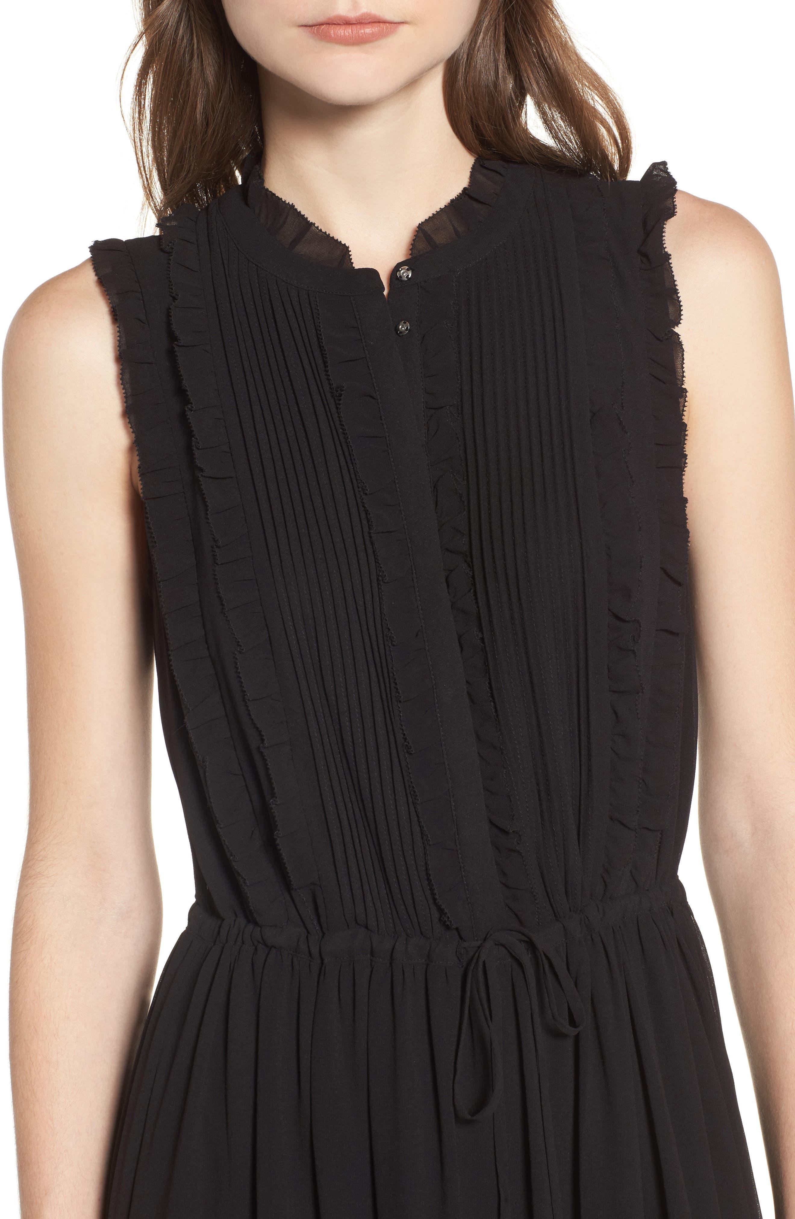 Ami Maxi Dress,                             Alternate thumbnail 4, color,                             Black