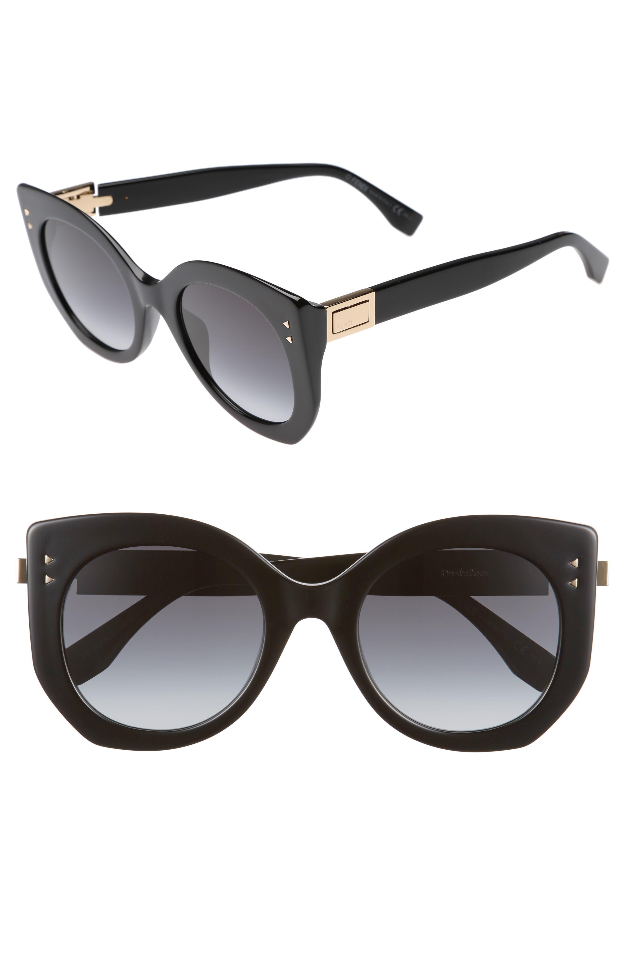 Main Image - Fendi 52mm Butterfly Sunglasses