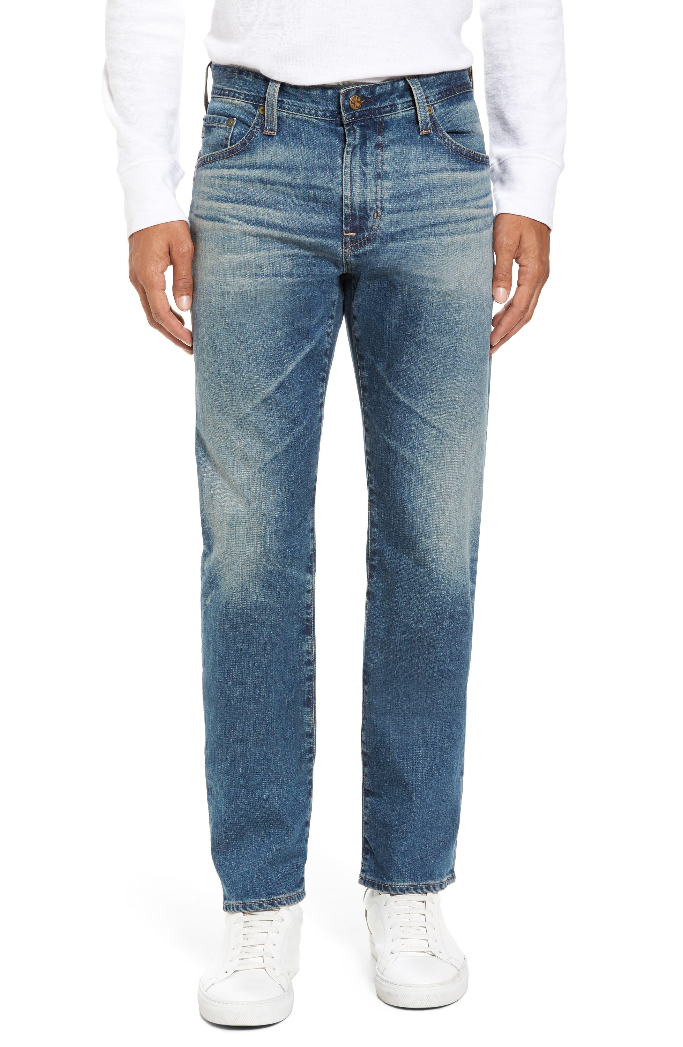 Graduate Slim Straight Leg Jeans,                             Main thumbnail 1, color,                             14 Years Century