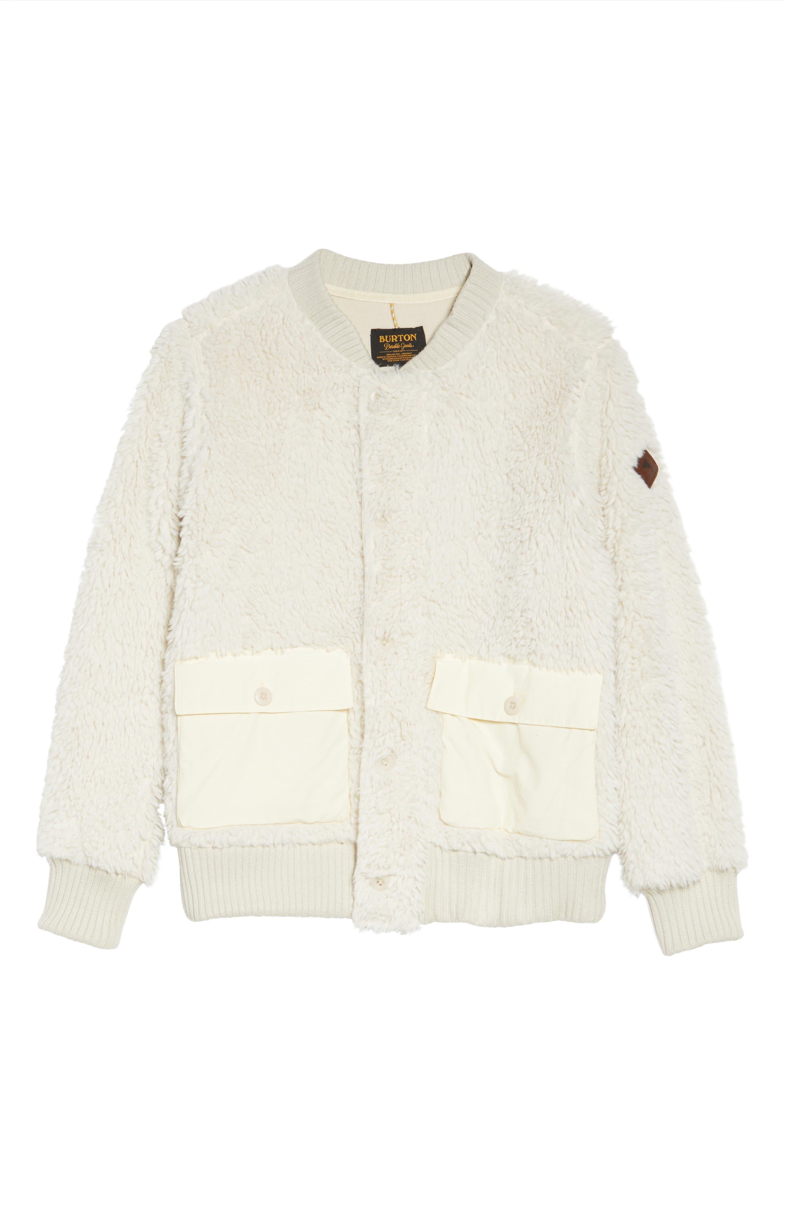 Shawmut High Pile DRYRIDE Thermex Fleece Jacket,                             Alternate thumbnail 7, color,                             Bone White