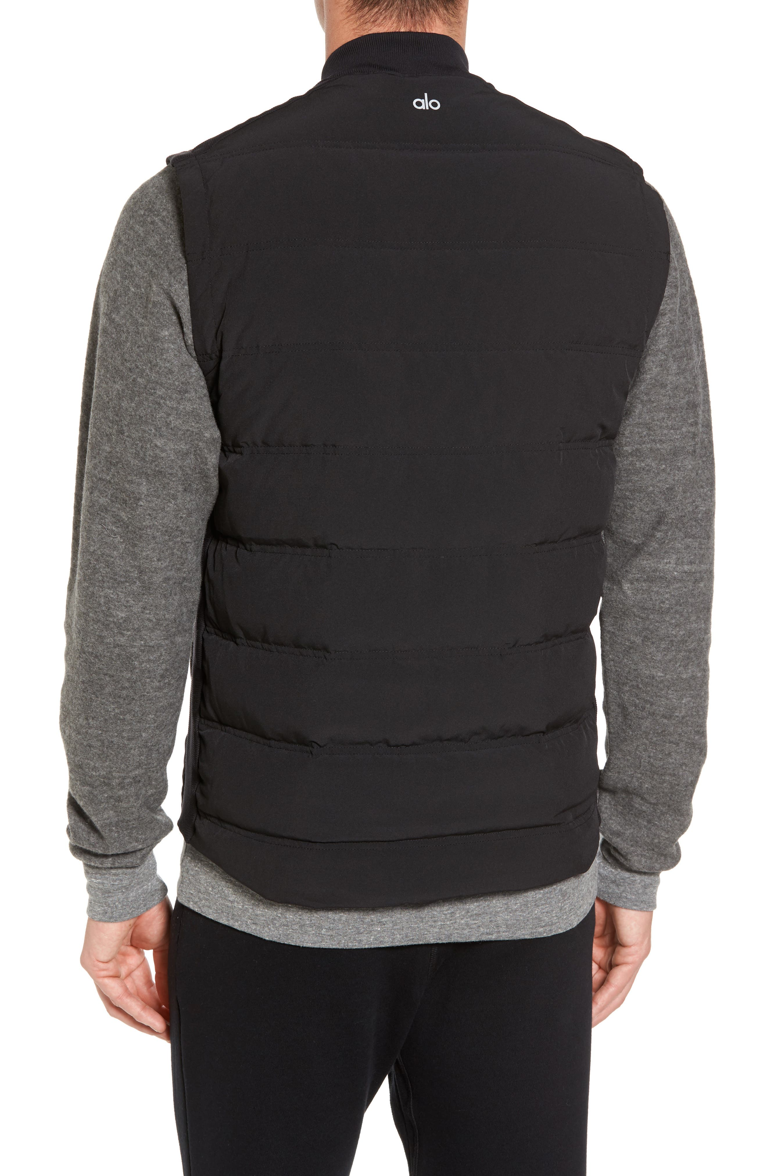 Mantra Relaxed Down Vest,                             Alternate thumbnail 2, color,                             Black