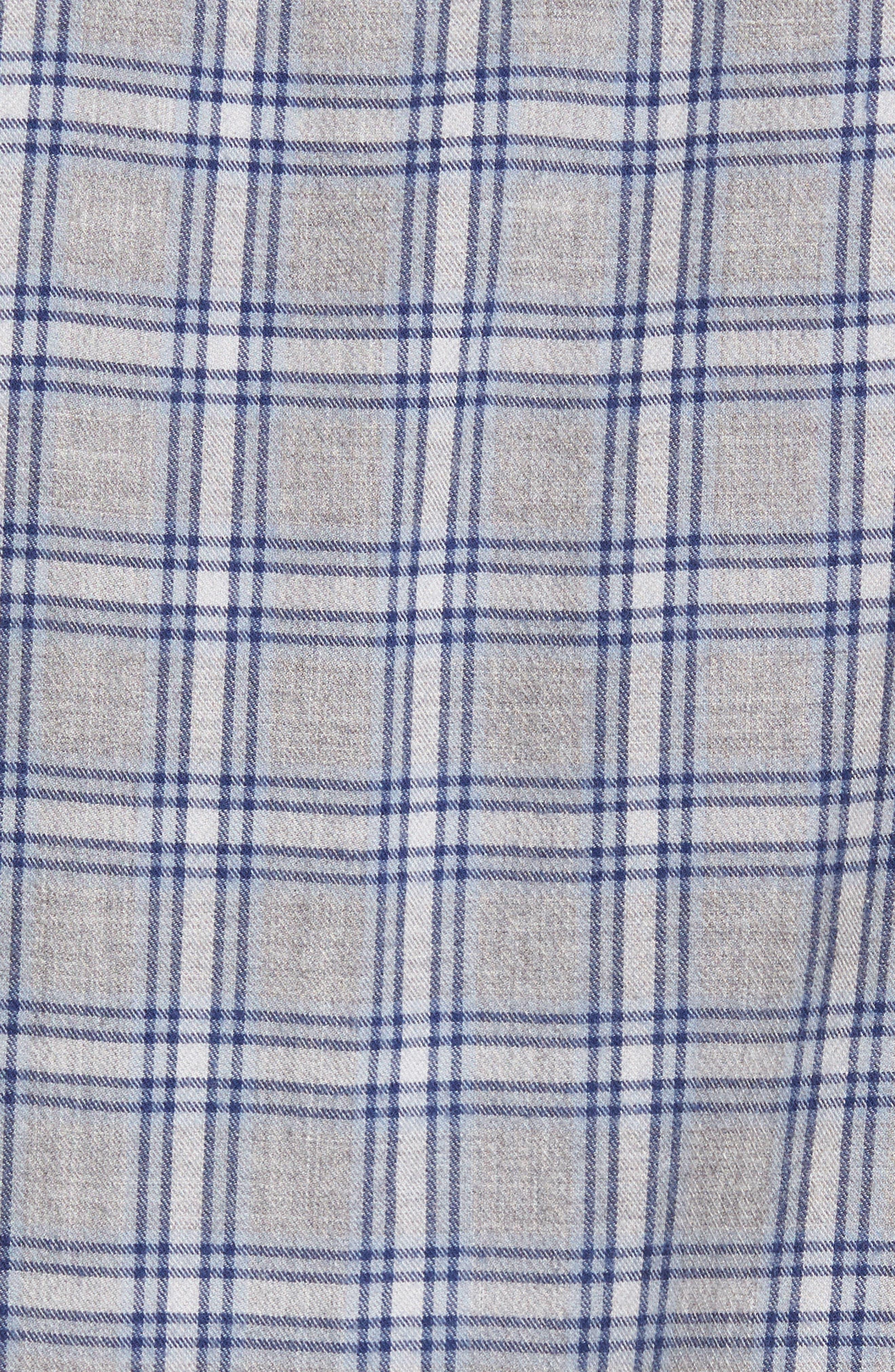 Workwear Duofold Check Sport Shirt,                             Alternate thumbnail 5, color,                             Navy Iris Grey Plaid Duofold