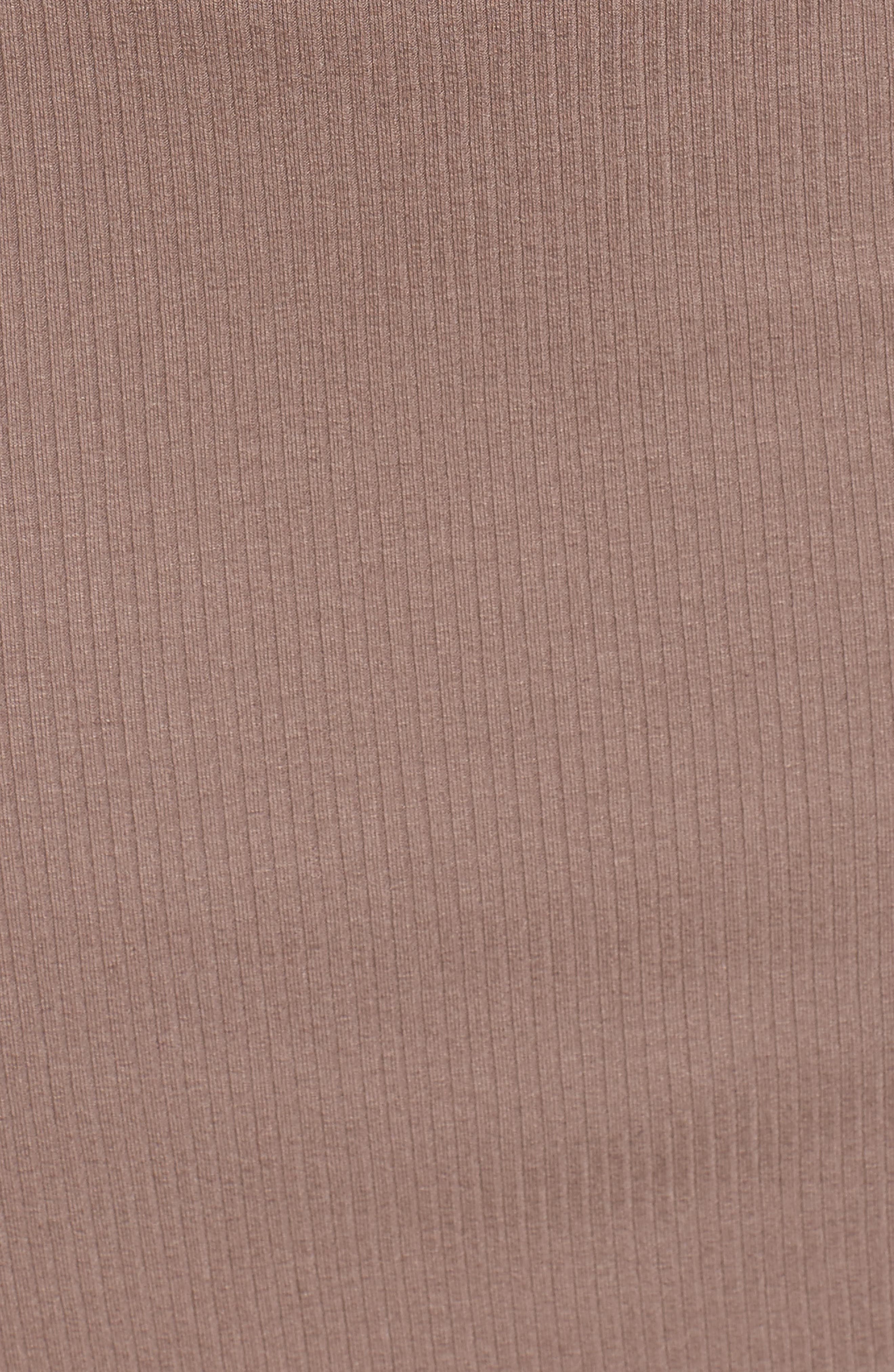 Silas Off the Shoulder Body-Con Dress,                             Alternate thumbnail 5, color,                             Warm Taupe