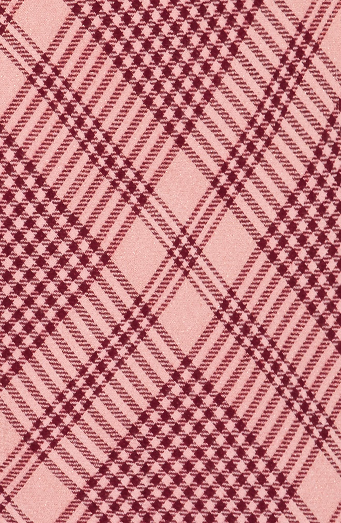 Metallic Plaid Triangle Scarf,                             Alternate thumbnail 3, color,                             Pink Multi