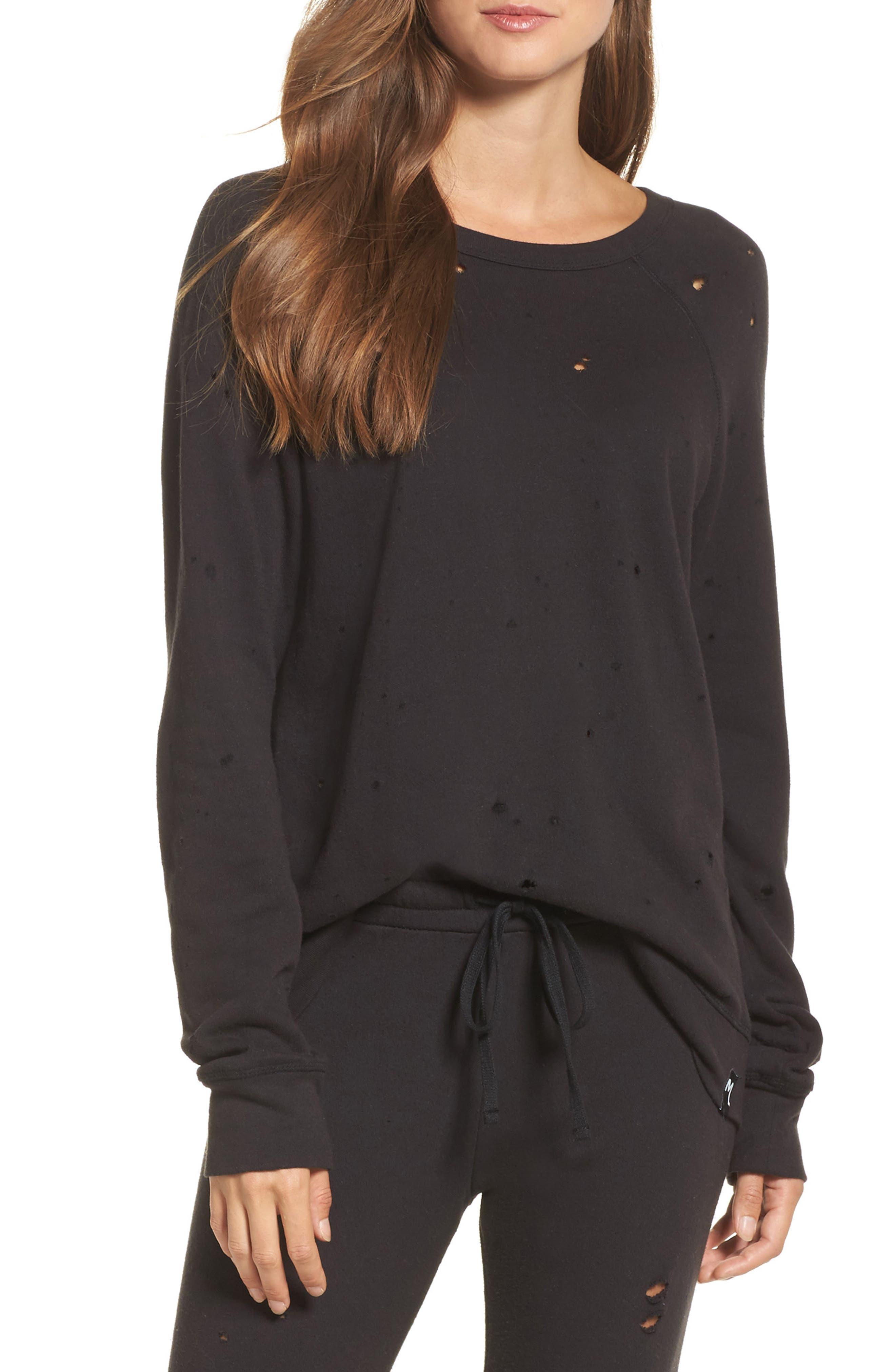 Alternate Image 1 Selected - Michael Lauren Destroyed Lounge Sweatshirt