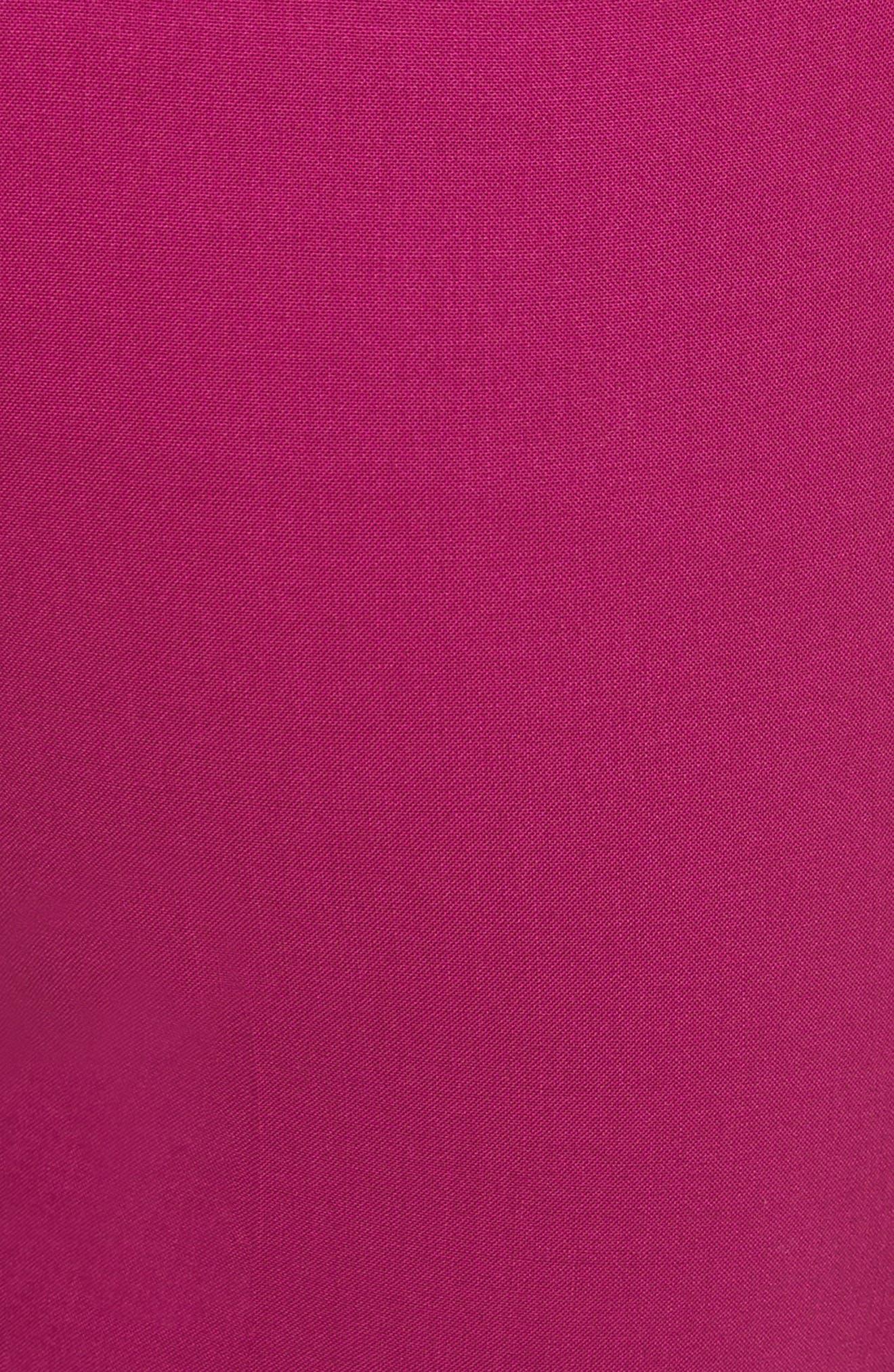 Demetria 2 Flare Leg Good Wool Suit Pants,                             Alternate thumbnail 6, color,                             Electric Pink