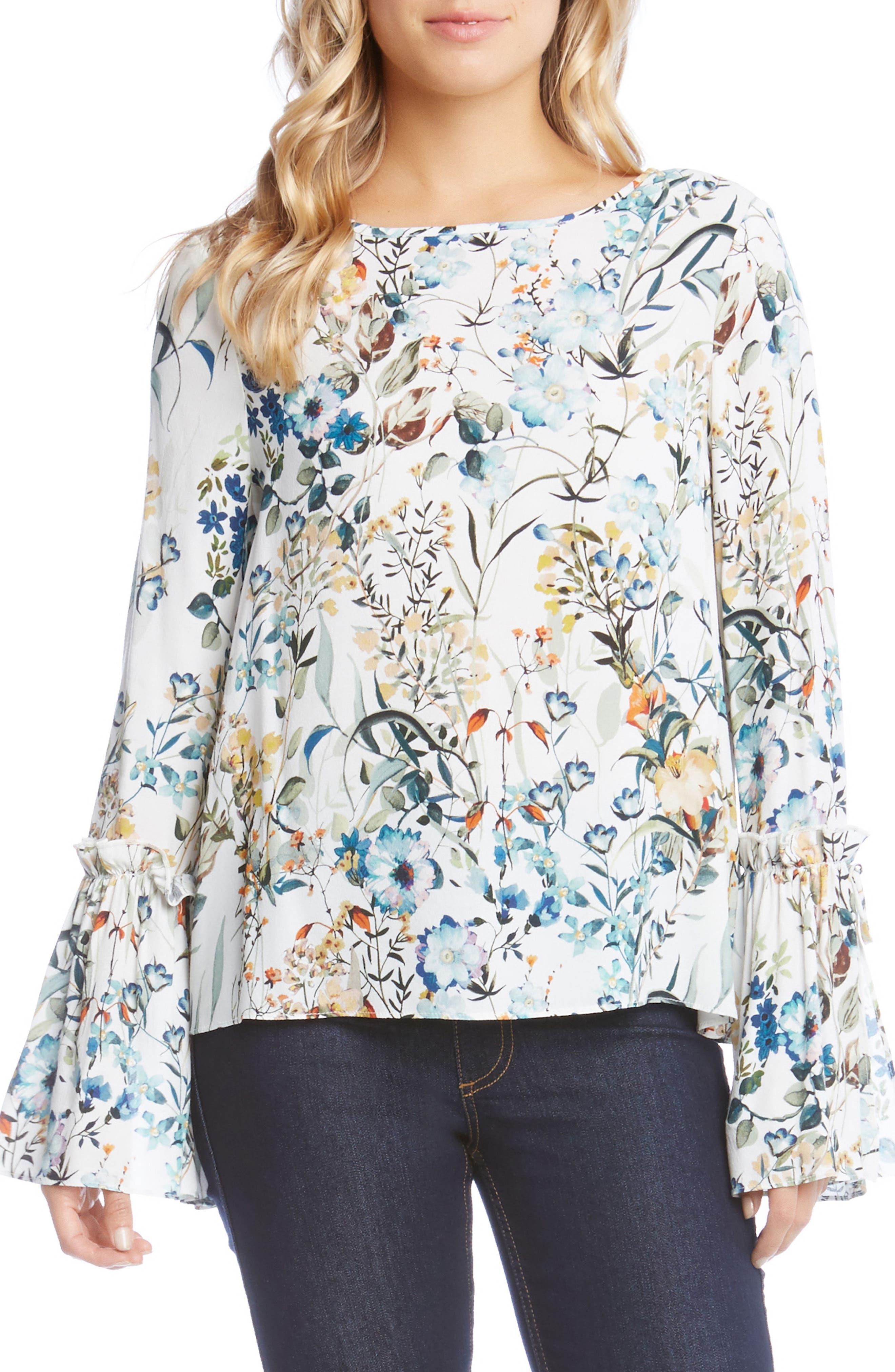 Main Image - Karen Kane Tie Sleeve Blouse