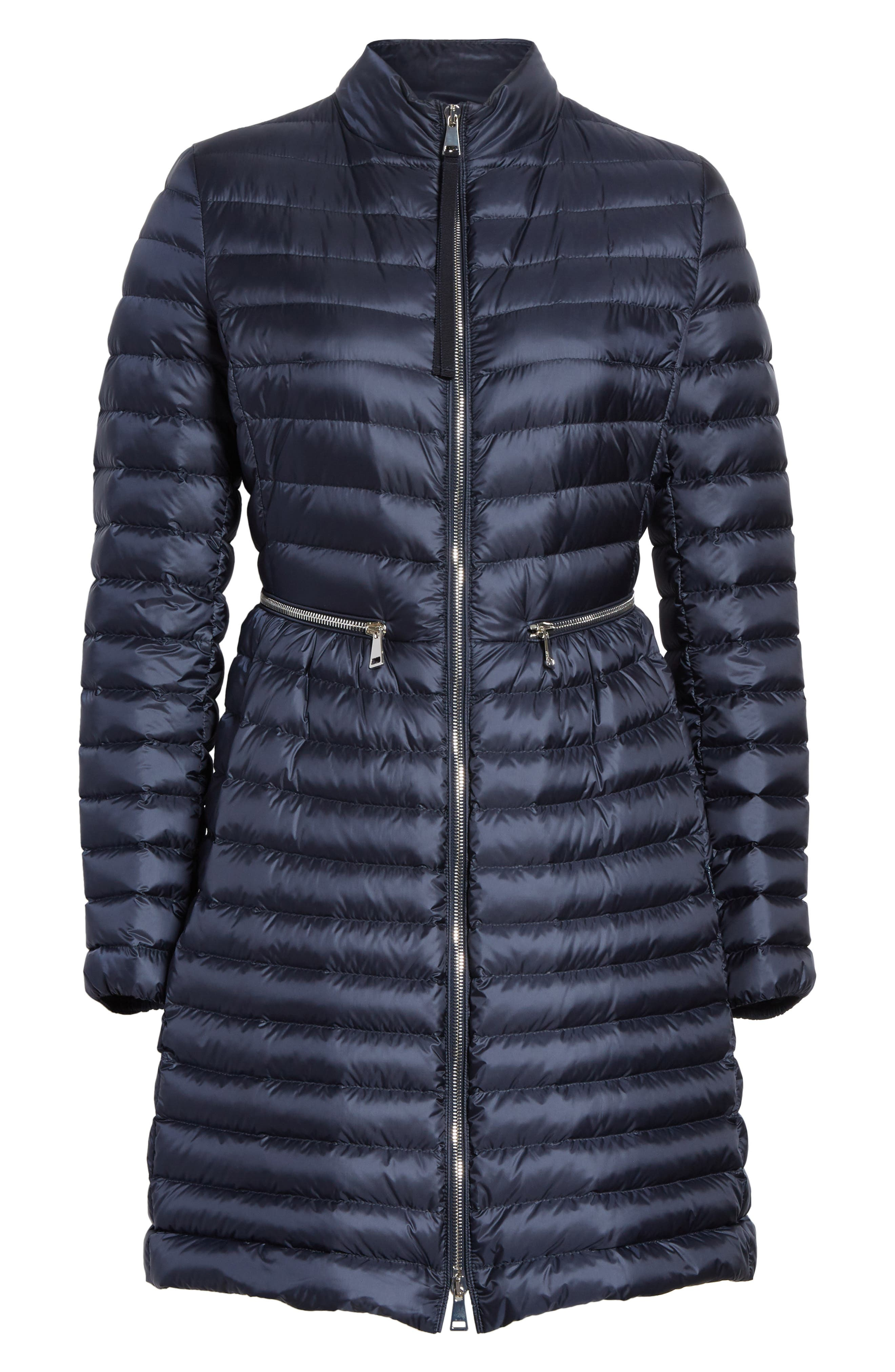 Agatelon Quilted Puffer Coat,                             Alternate thumbnail 6, color,                             Navy