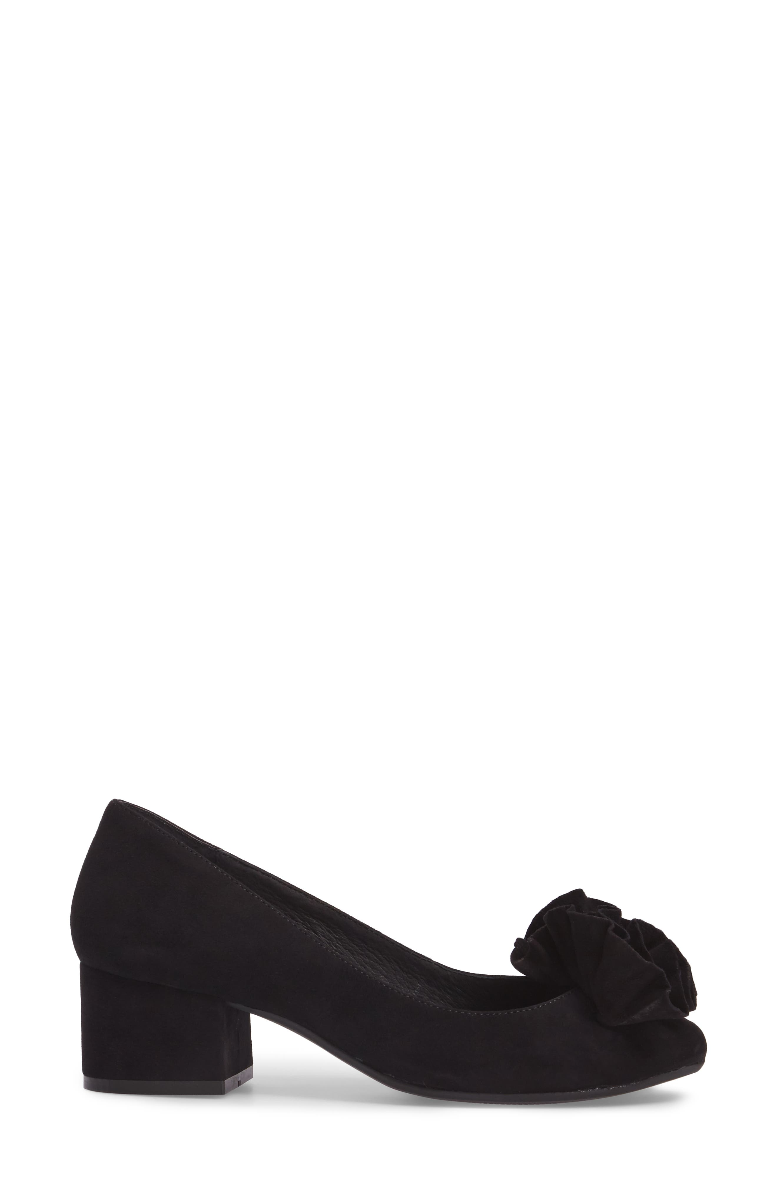 Lilly Pump,                             Alternate thumbnail 3, color,                             Black Suede