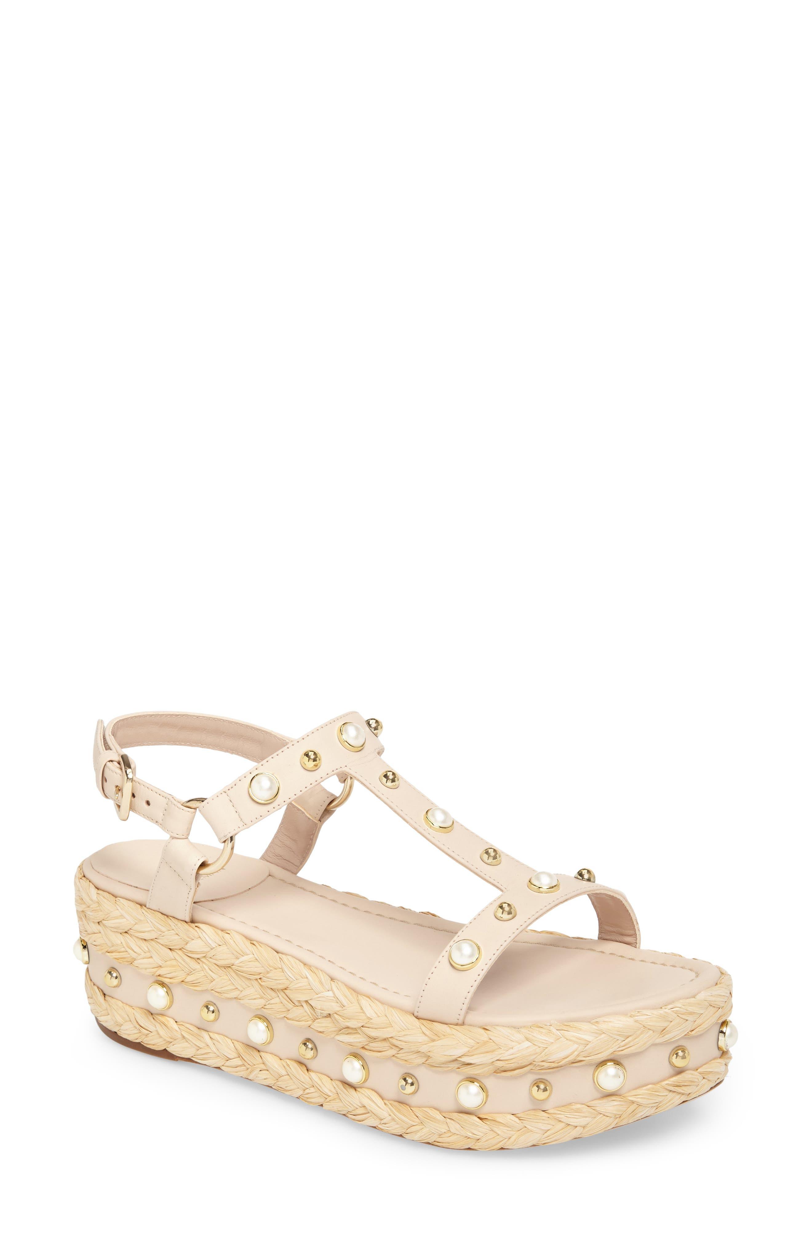 Main Image - Stuart Weitzman Beraffia Platform Sandal (Women)