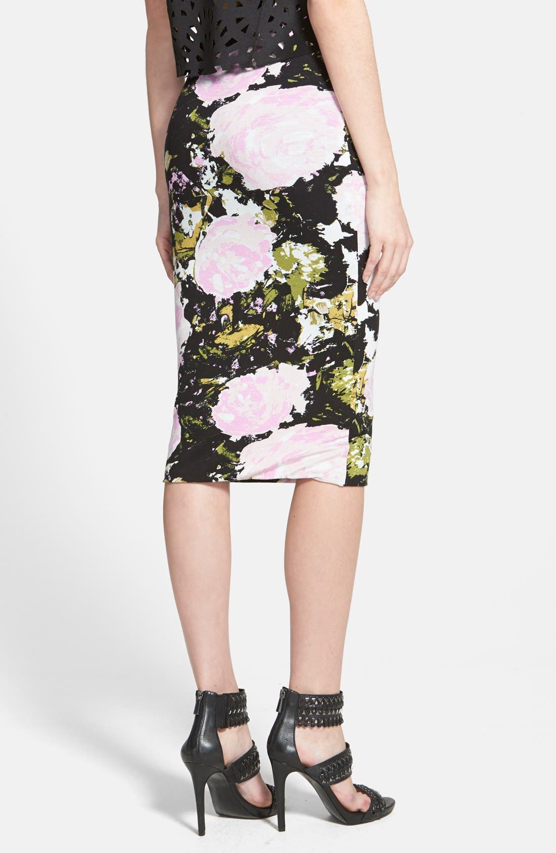 Alternate Image 2  - Leith High Waist Print Midi Skirt