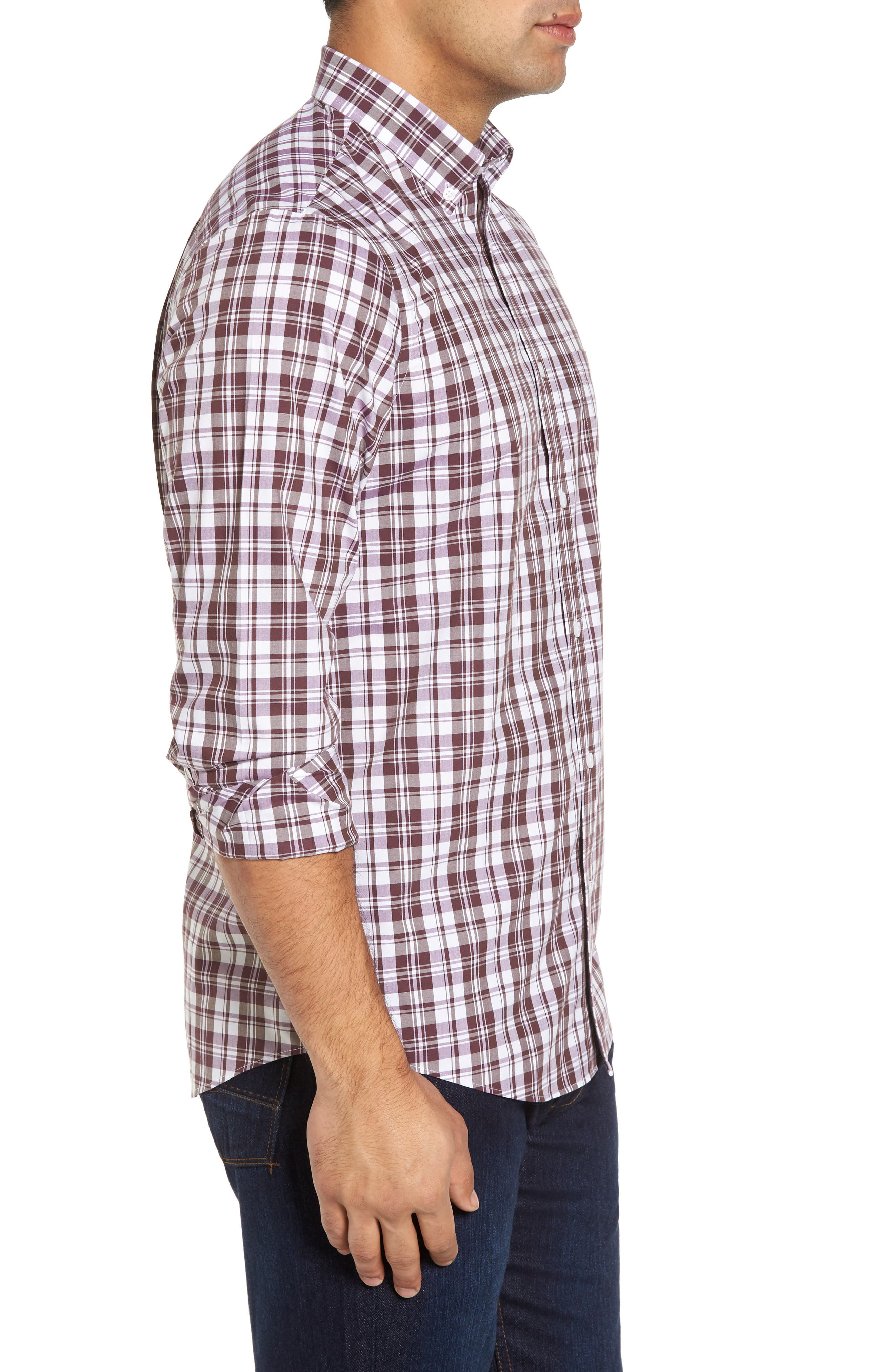 Alternate Image 3  - Nordstrom Men's Shop Smartcare™ Regular Fit Plaid Sport Shirt