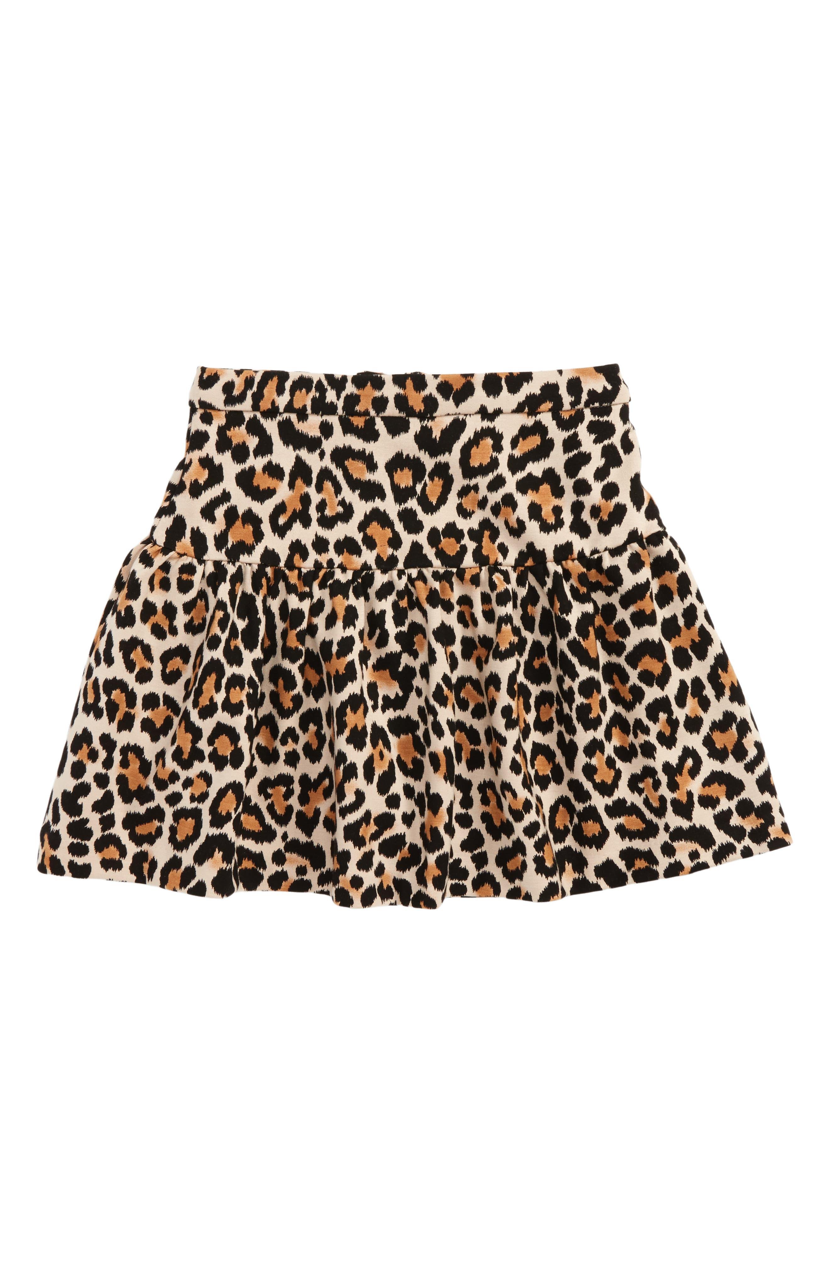 Main Image - kate spade new york leopard print skirt (Toddler Girls & Little Girls)