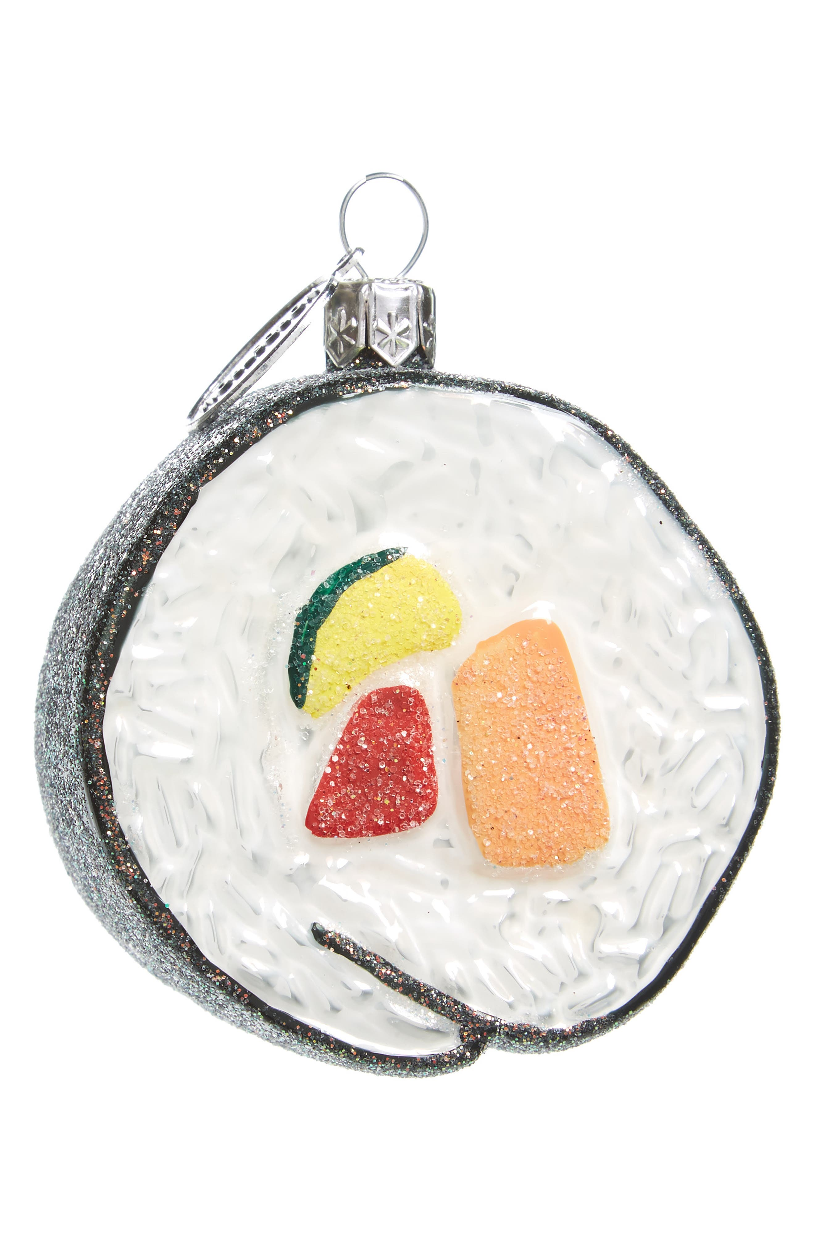 Nordstrom at Home Sushi Roll Glass Ornament