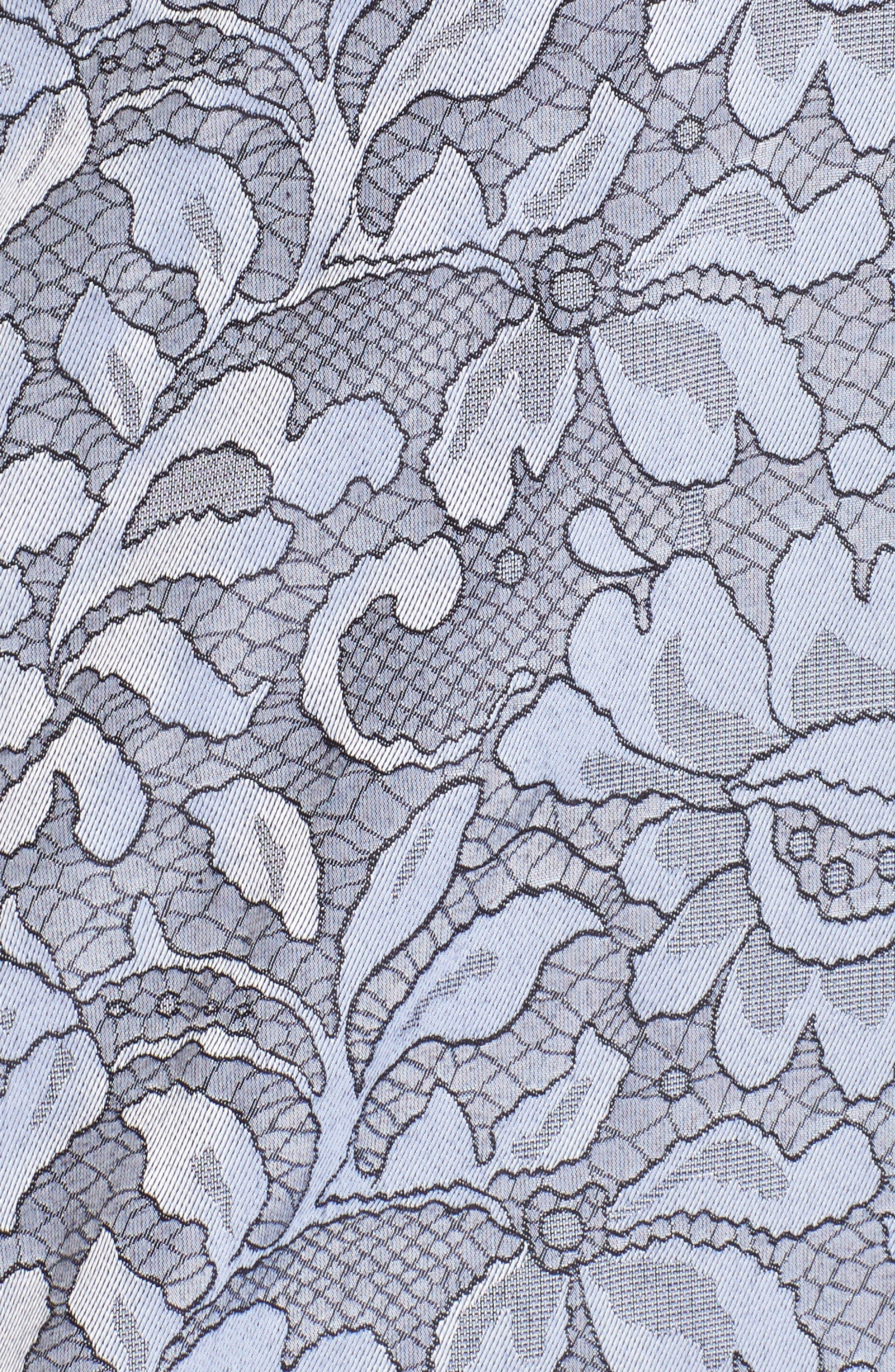 Rhonda Lace Jacquard Shirt,                             Alternate thumbnail 5, color,                             Slate