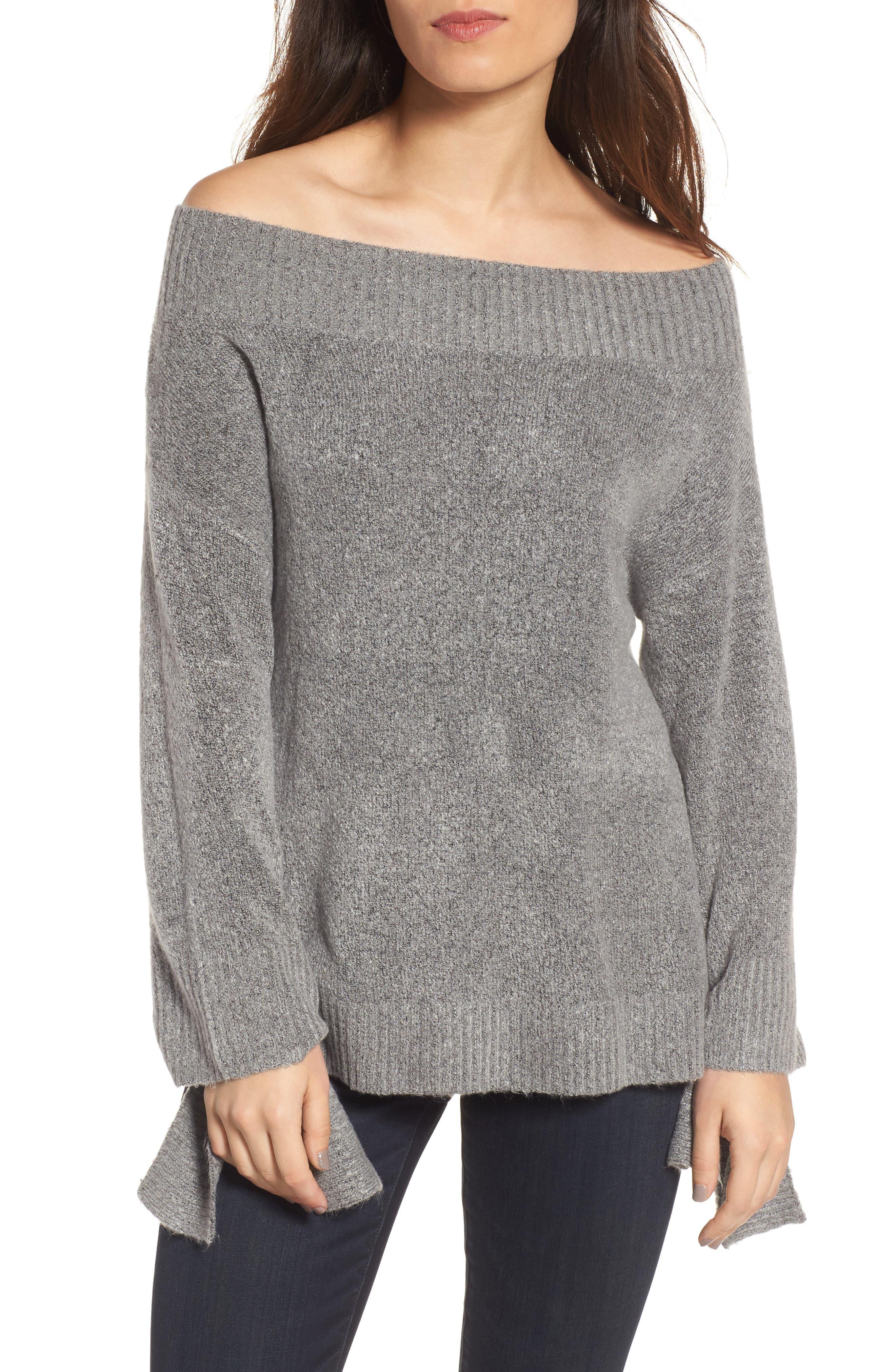 Main Image - Hinge Off the Shoulder Sweater