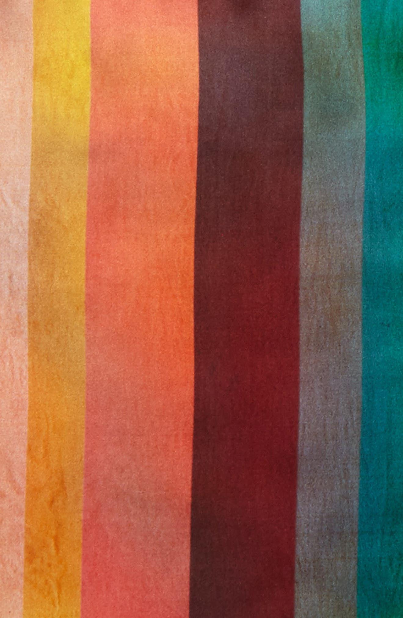 Artist Stripe Silk Pocket Square,                             Alternate thumbnail 2, color,                             Multi