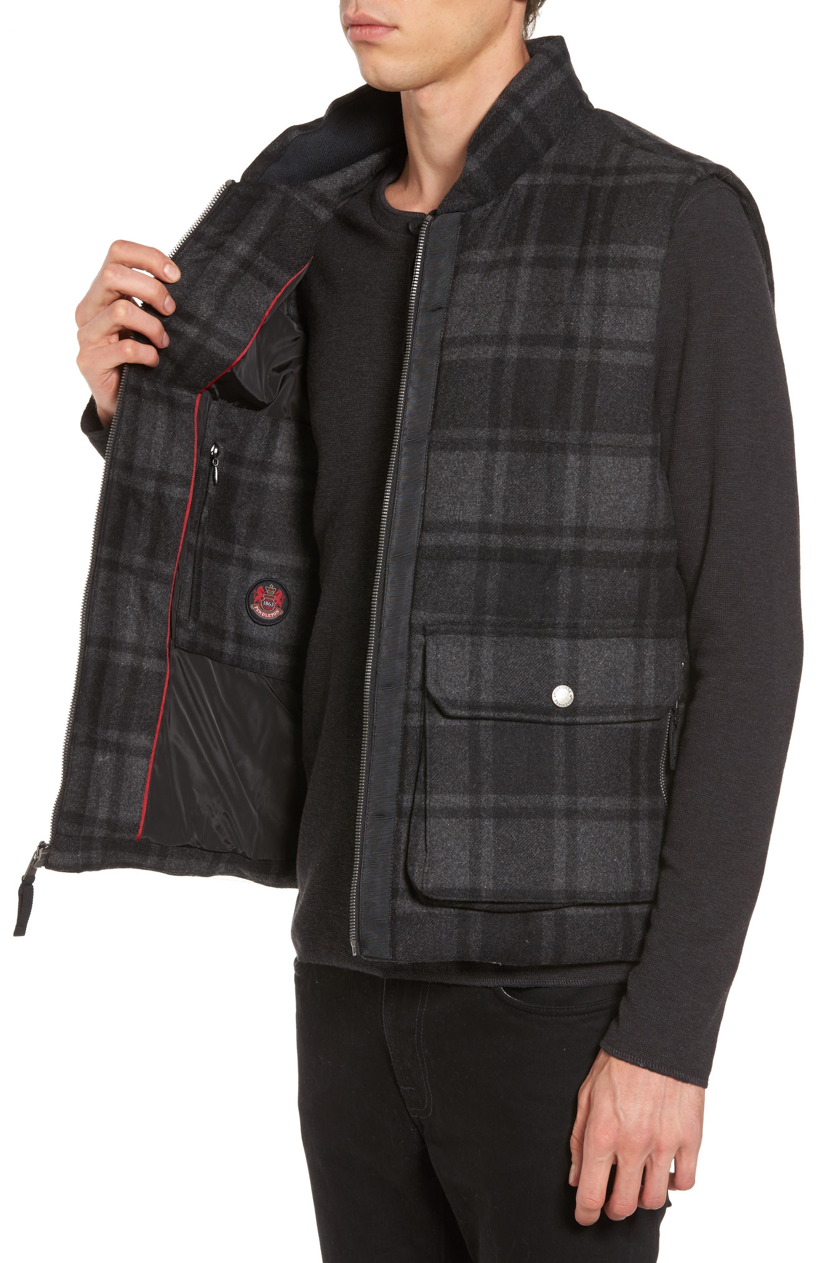 Yosemite Jacket,                             Alternate thumbnail 3, color,                             Black/ Charcoal Plaid
