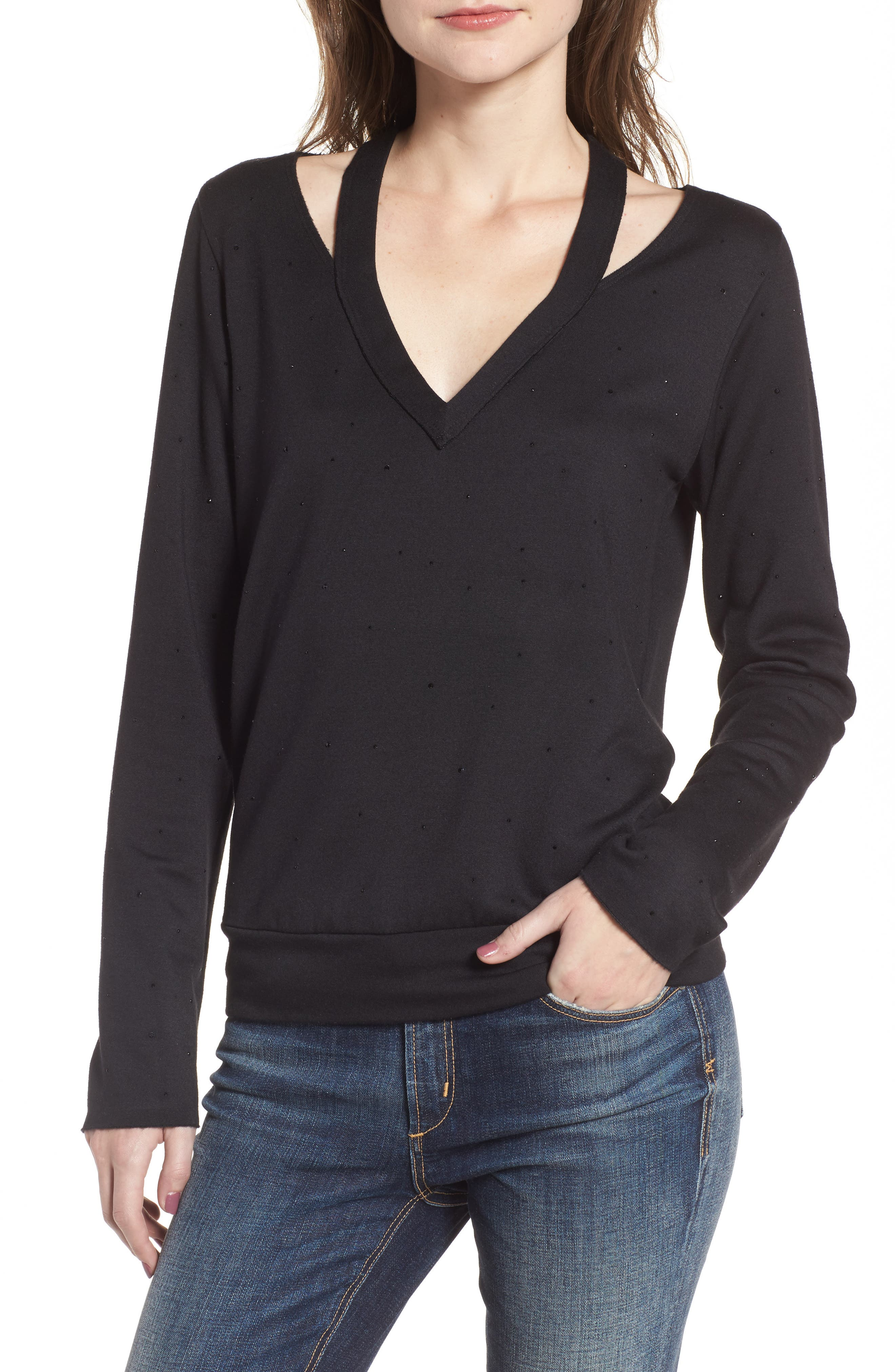 Spin Off Top,                         Main,                         color, Black