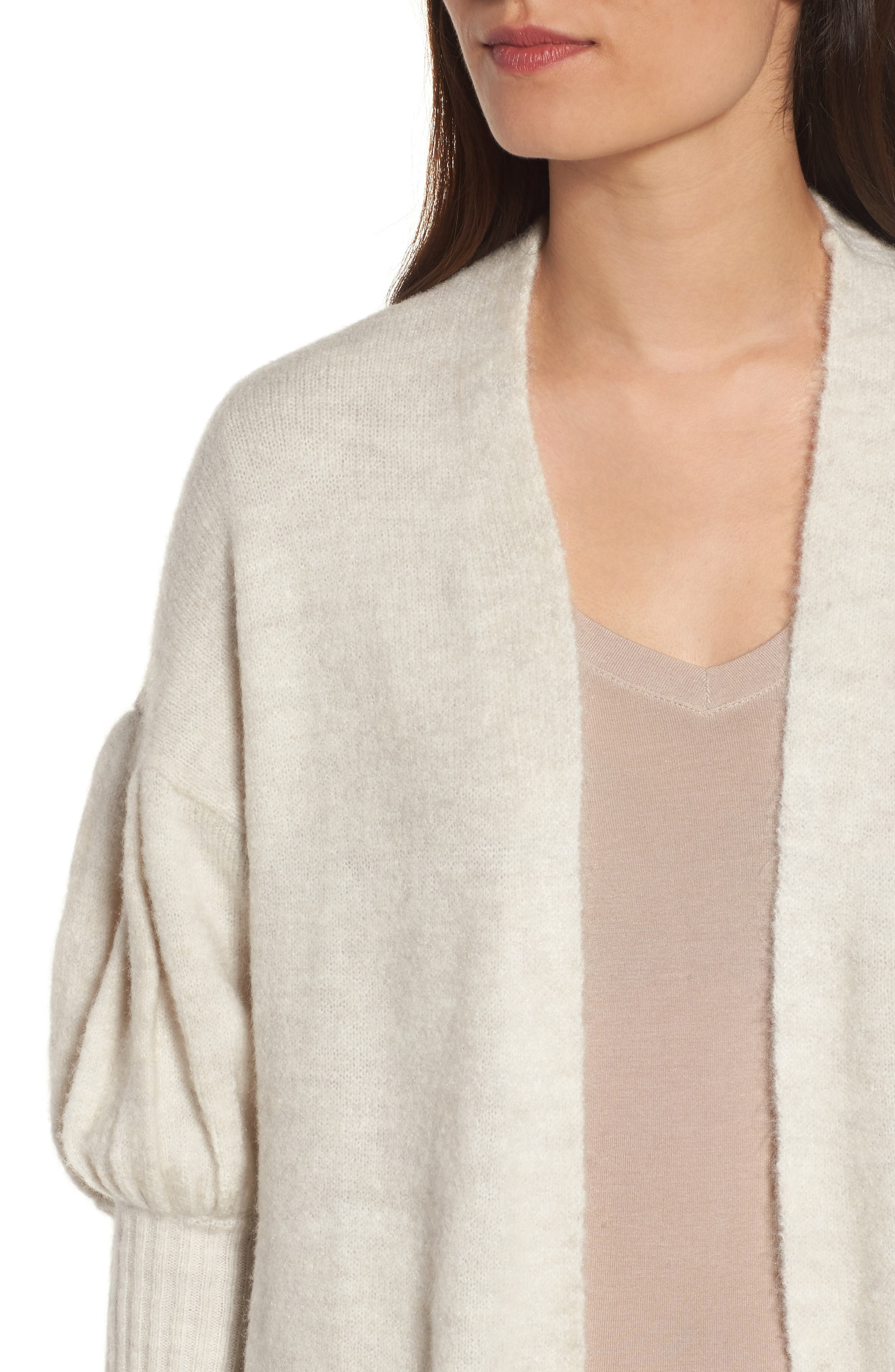 Cozy Cardigan,                             Alternate thumbnail 4, color,                             Ivory Pristine