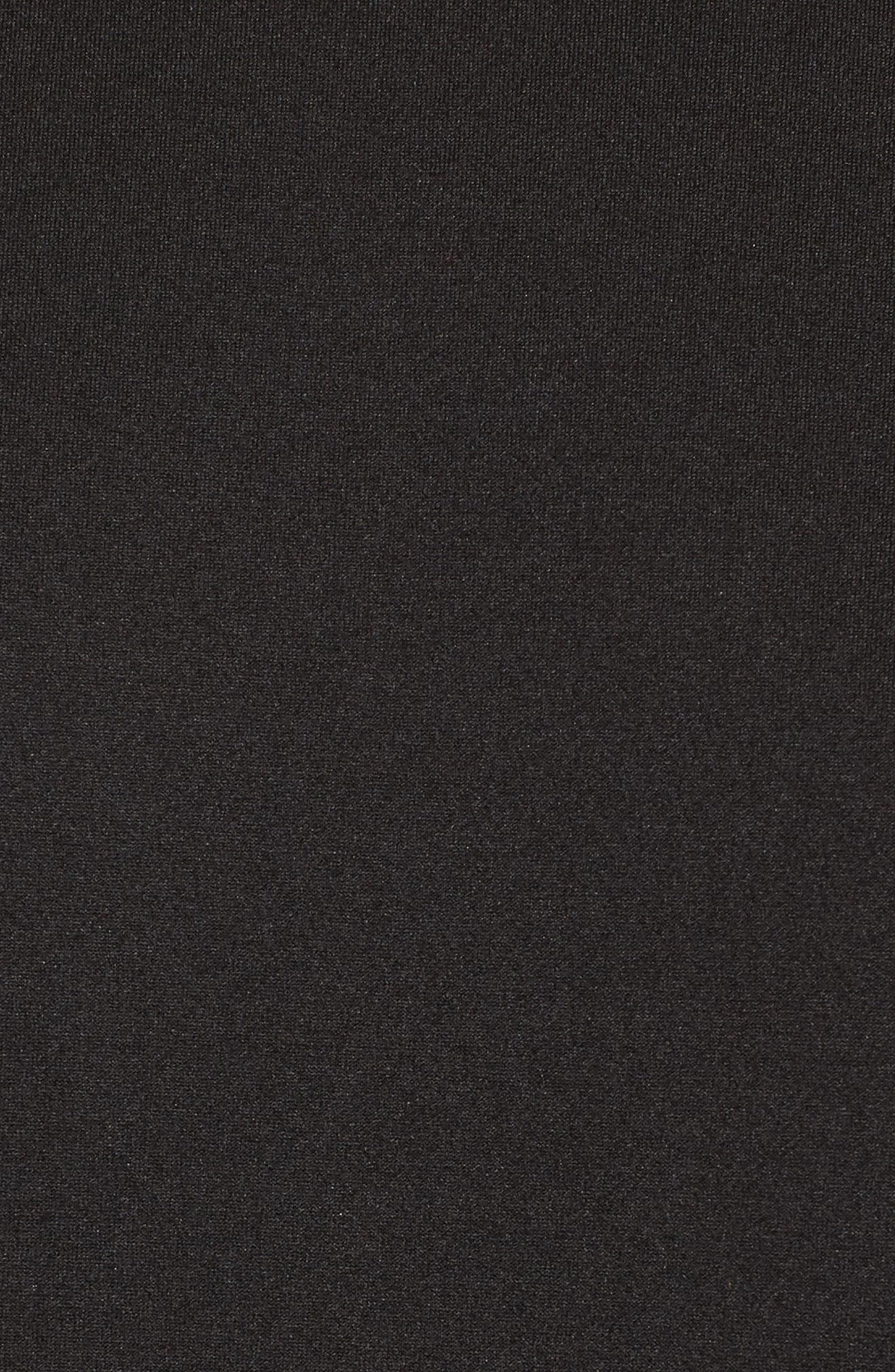 Neoprene Drama Sleeve Top,                             Alternate thumbnail 5, color,                             Black