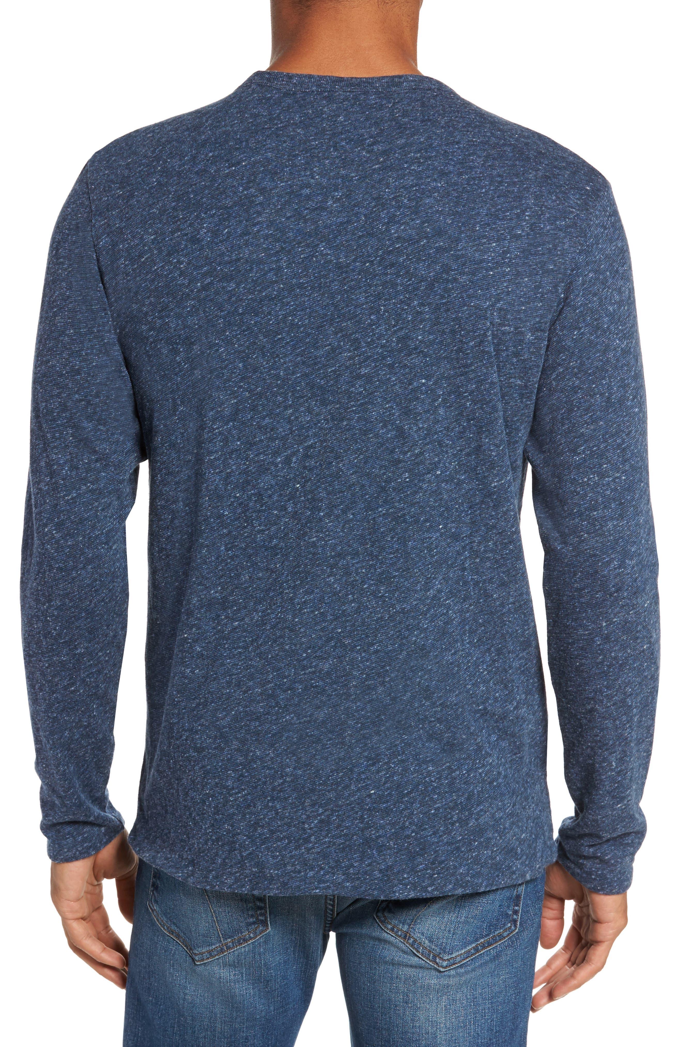 Alternate Image 2  - Faherty Heathered Reversible Long Sleeve Crewneck T-Shirt