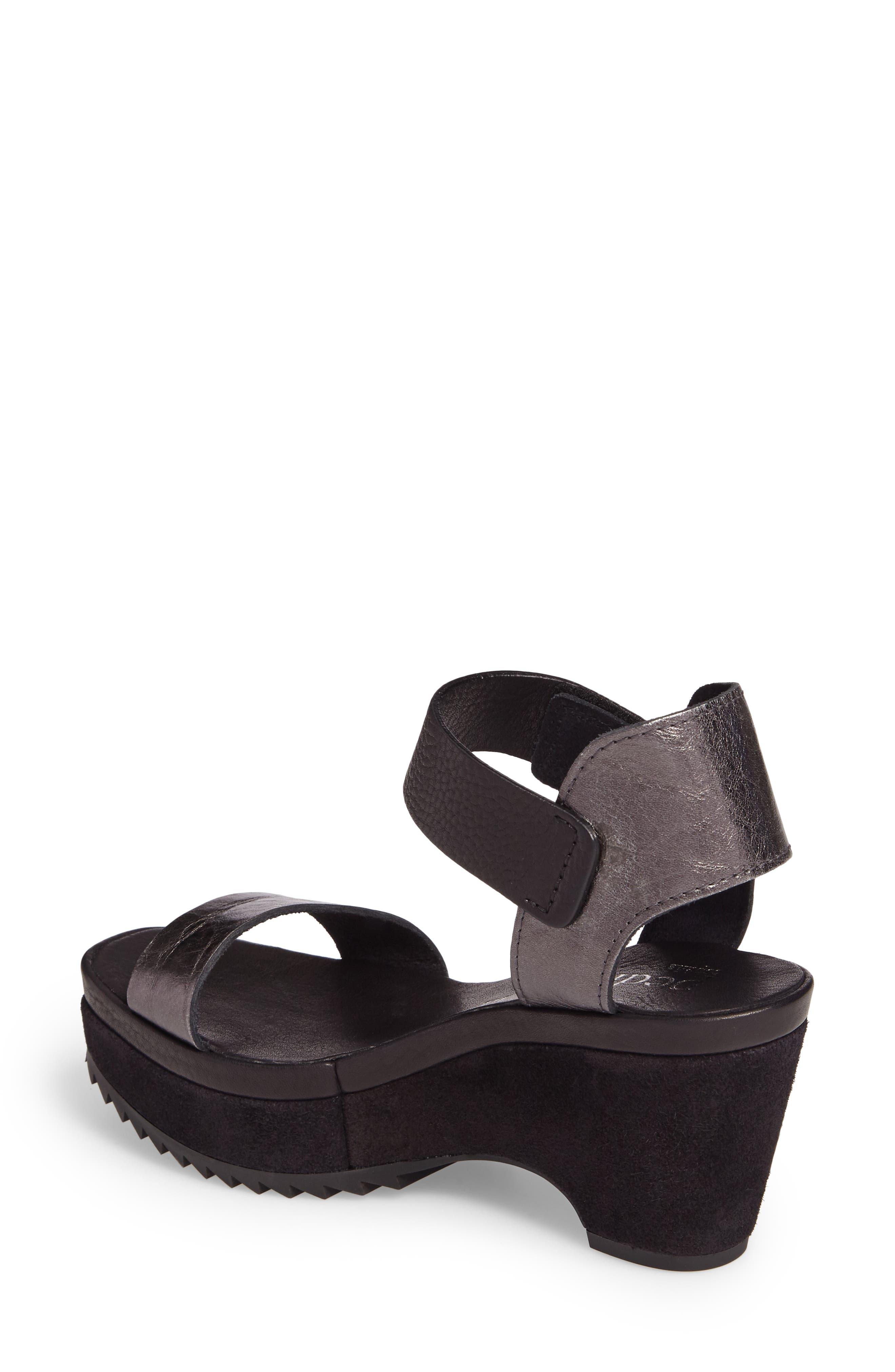 Franses Flatform Sandal,                             Alternate thumbnail 2, color,                             Antracite Cervo Lame